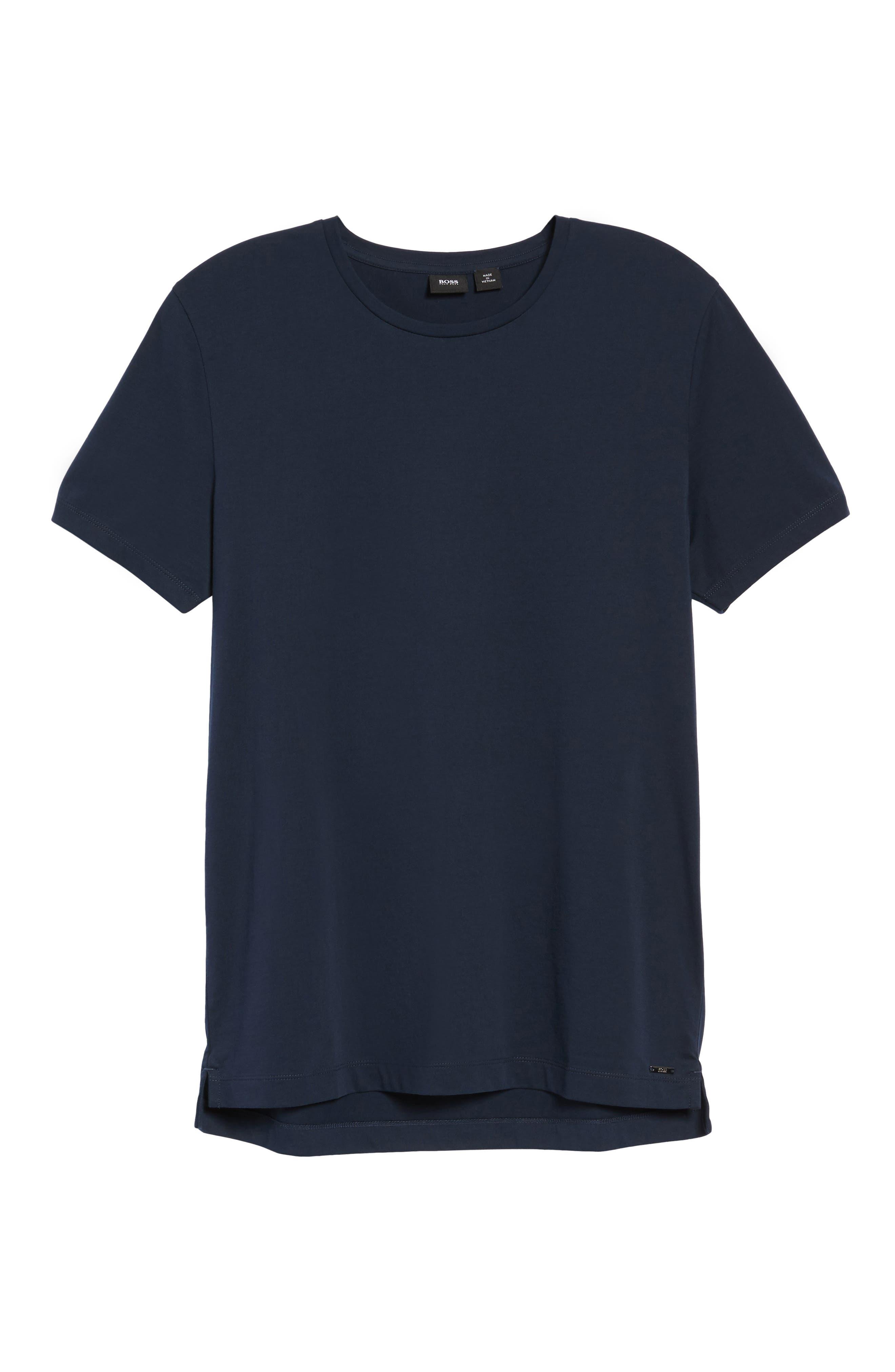Tessler Crewneck T-Shirt,                             Alternate thumbnail 5, color,                             Black