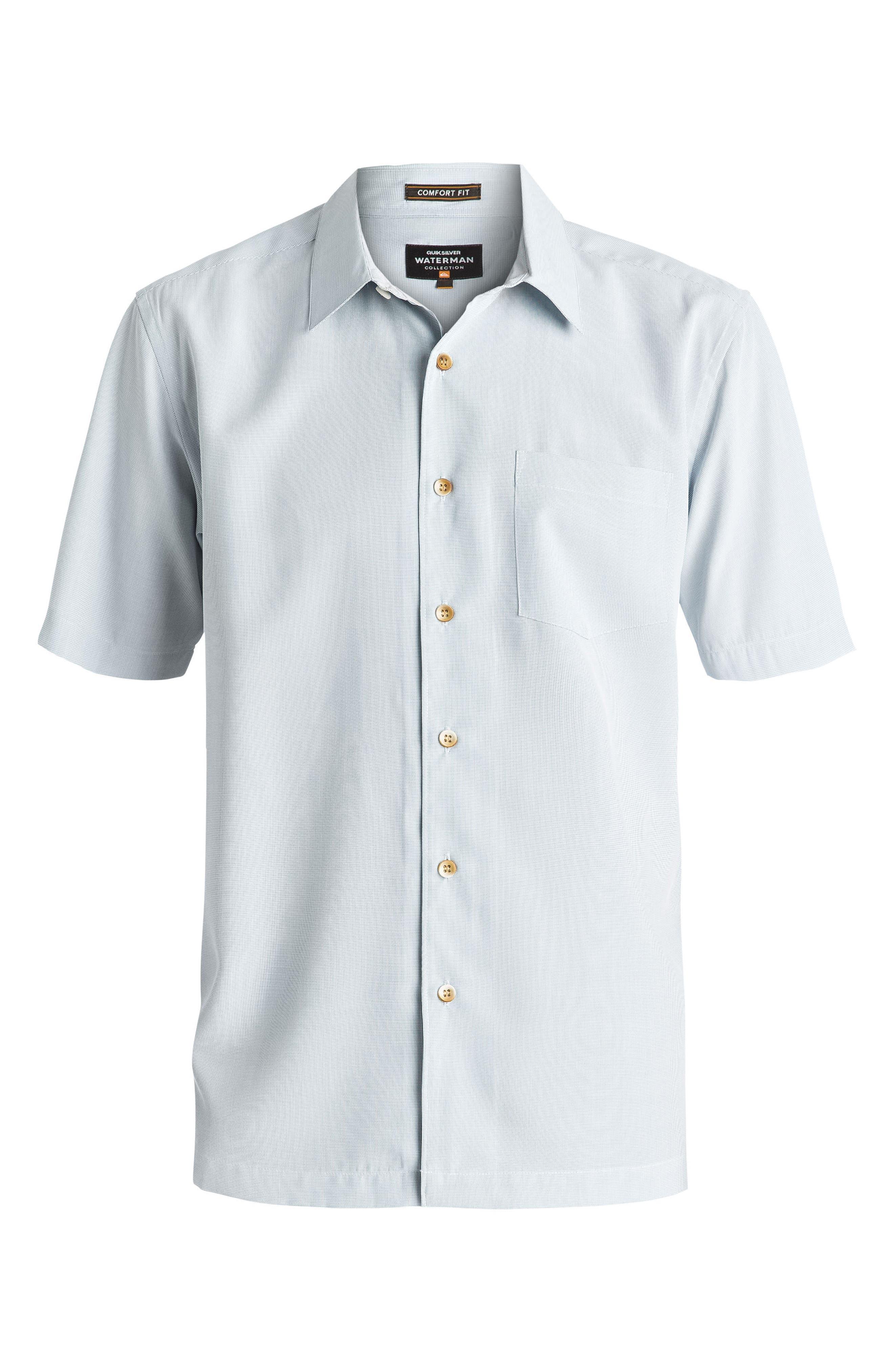 Alternate Image 3  - Quiksilver Waterman Collection 'Cane Island' Regular Fit Short Sleeve Sport Shirt