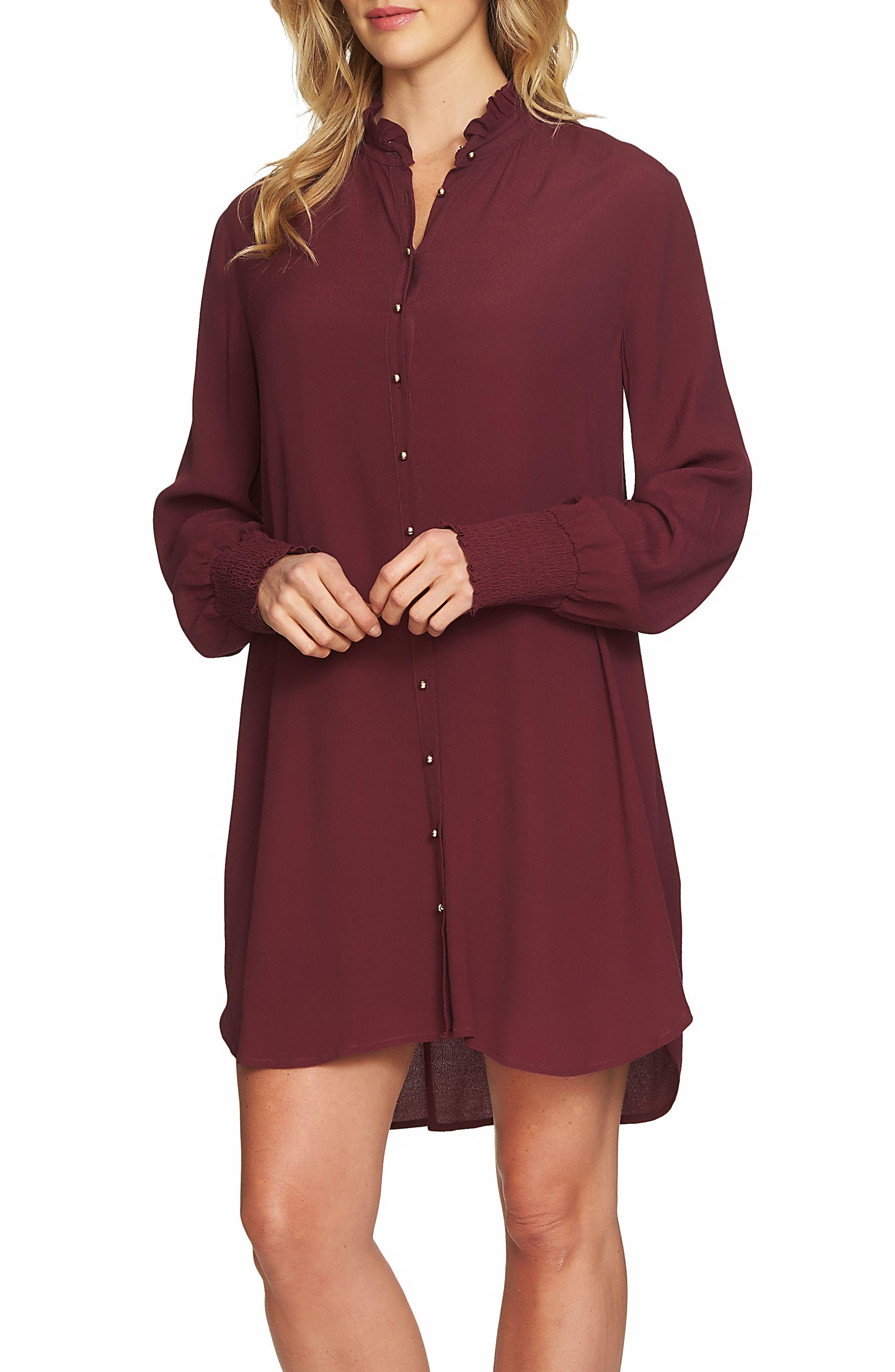 1.STATE Button Up Shirtdress