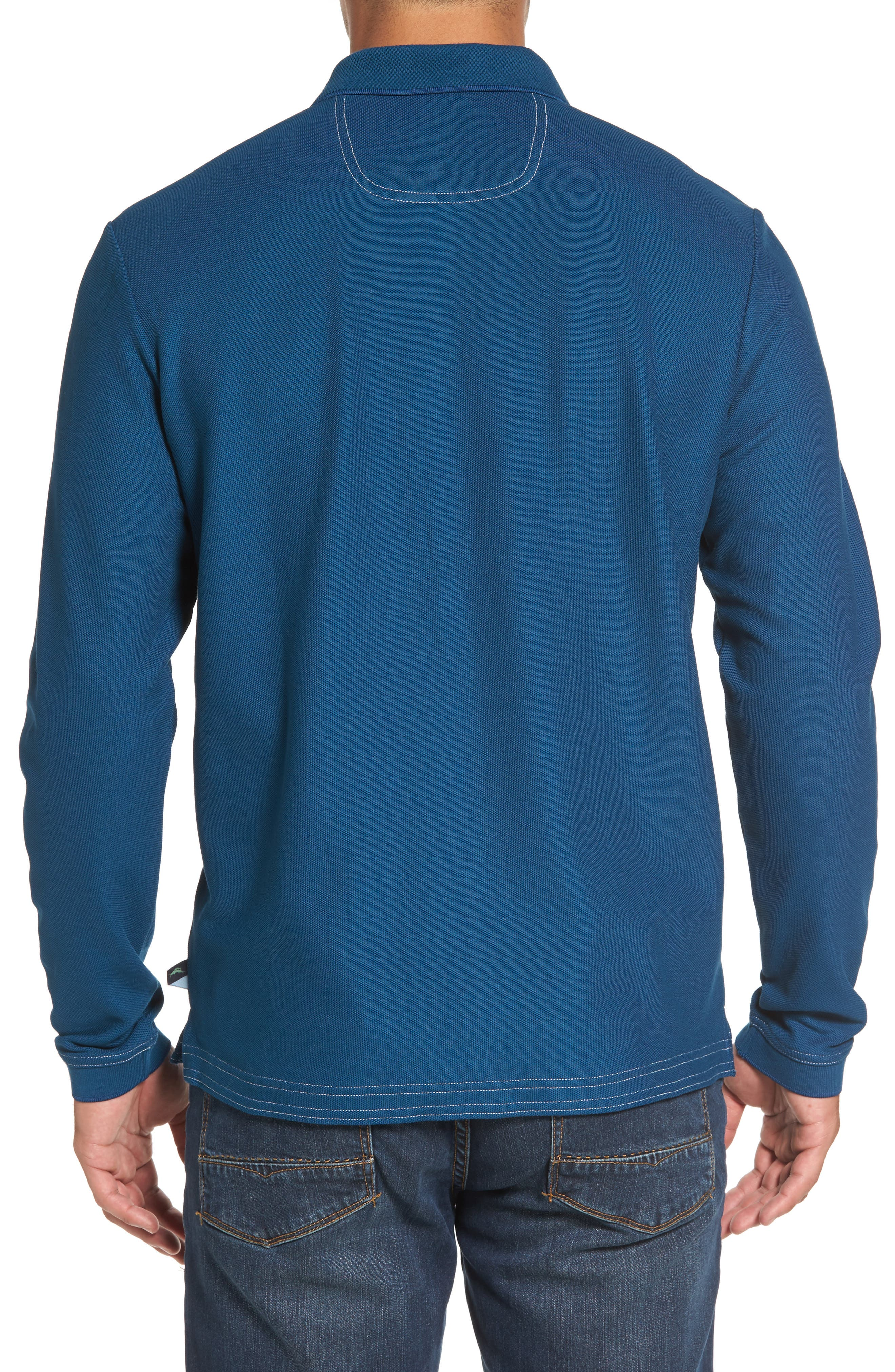 Emfielder Long Sleeve Polo,                             Alternate thumbnail 2, color,                             Slate Teal