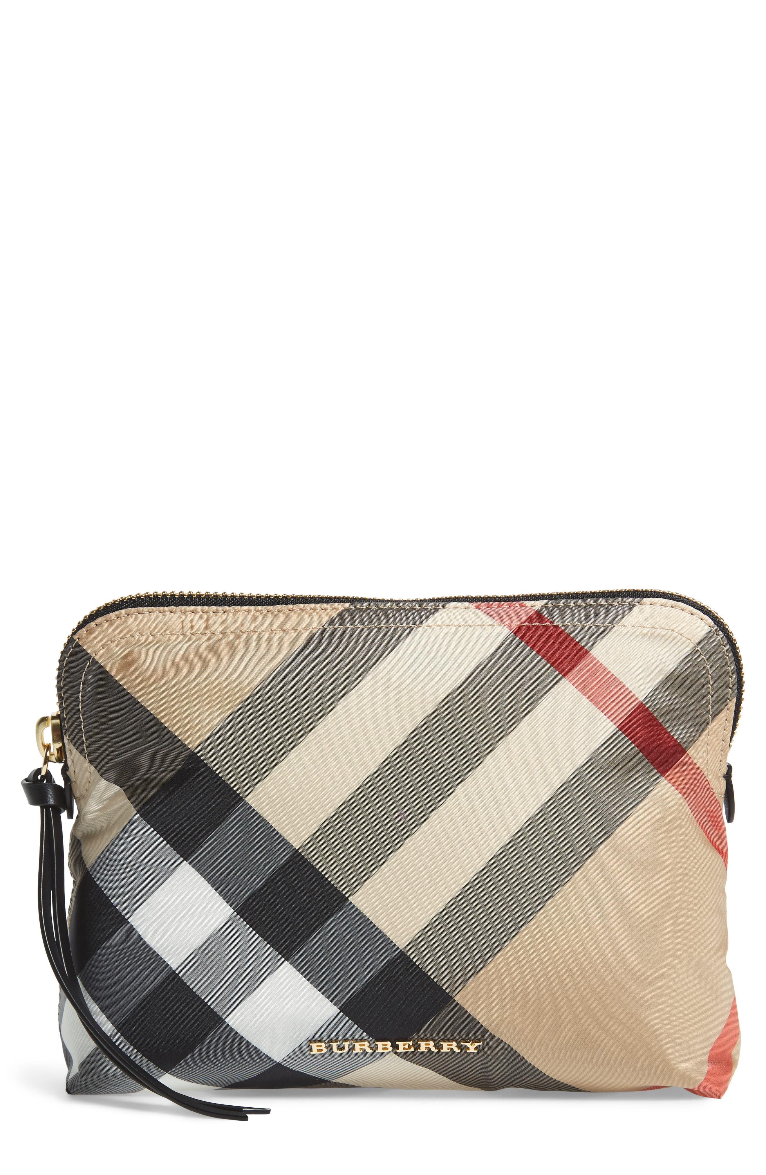 Burberry Large Check Zip Pouch