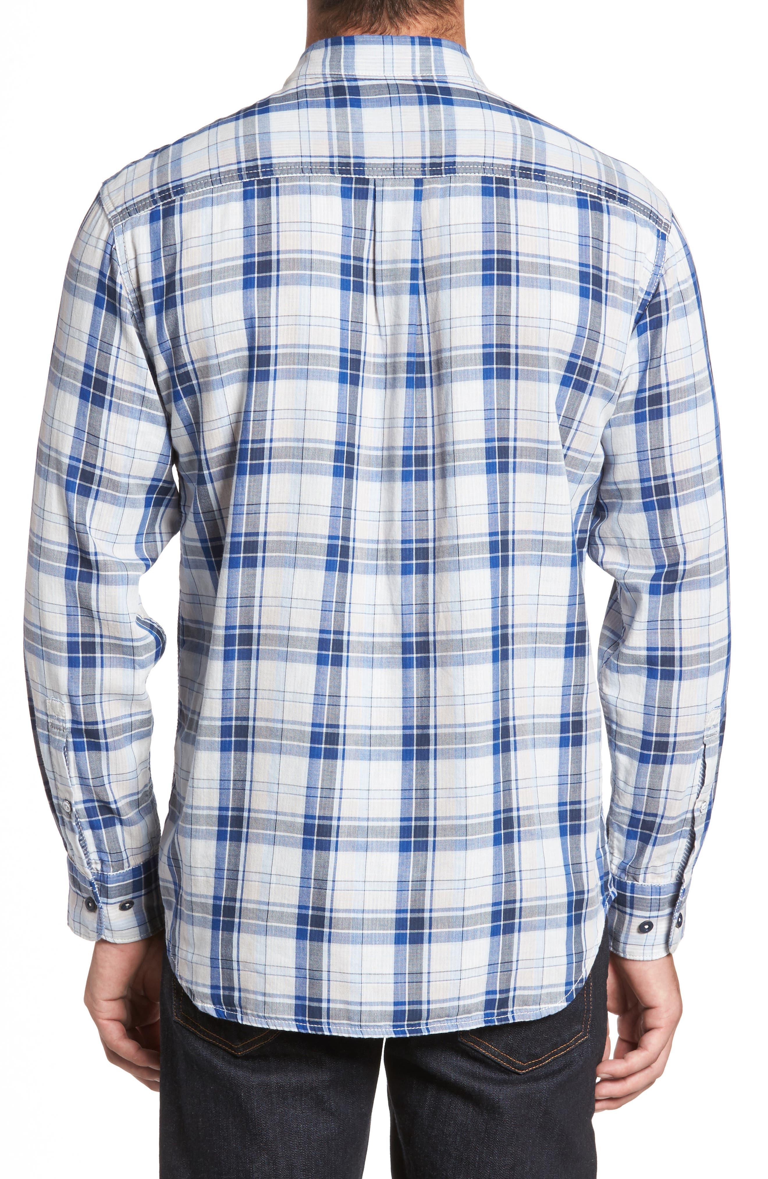 Alternate Image 2  - Tommy Bahama Aladdin Standard Fit Plaid Sport Shirt