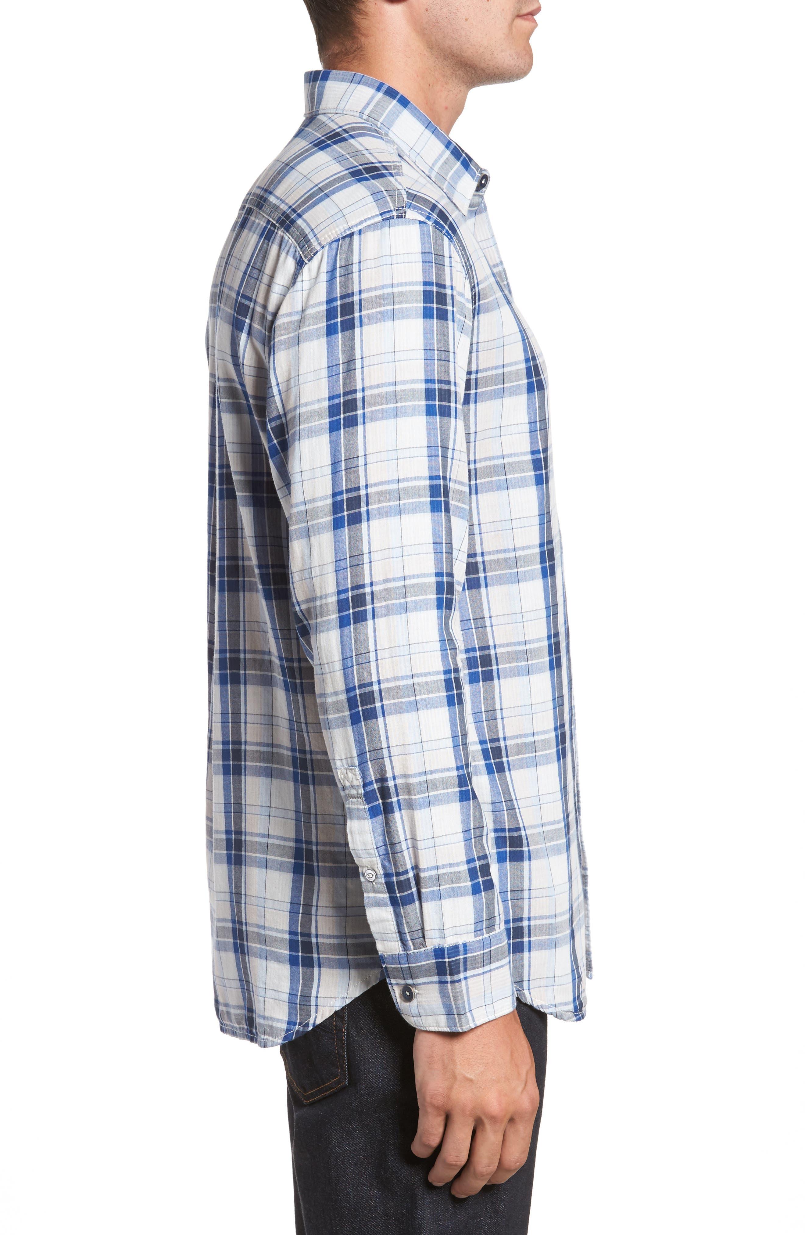 Alternate Image 3  - Tommy Bahama Aladdin Standard Fit Plaid Sport Shirt