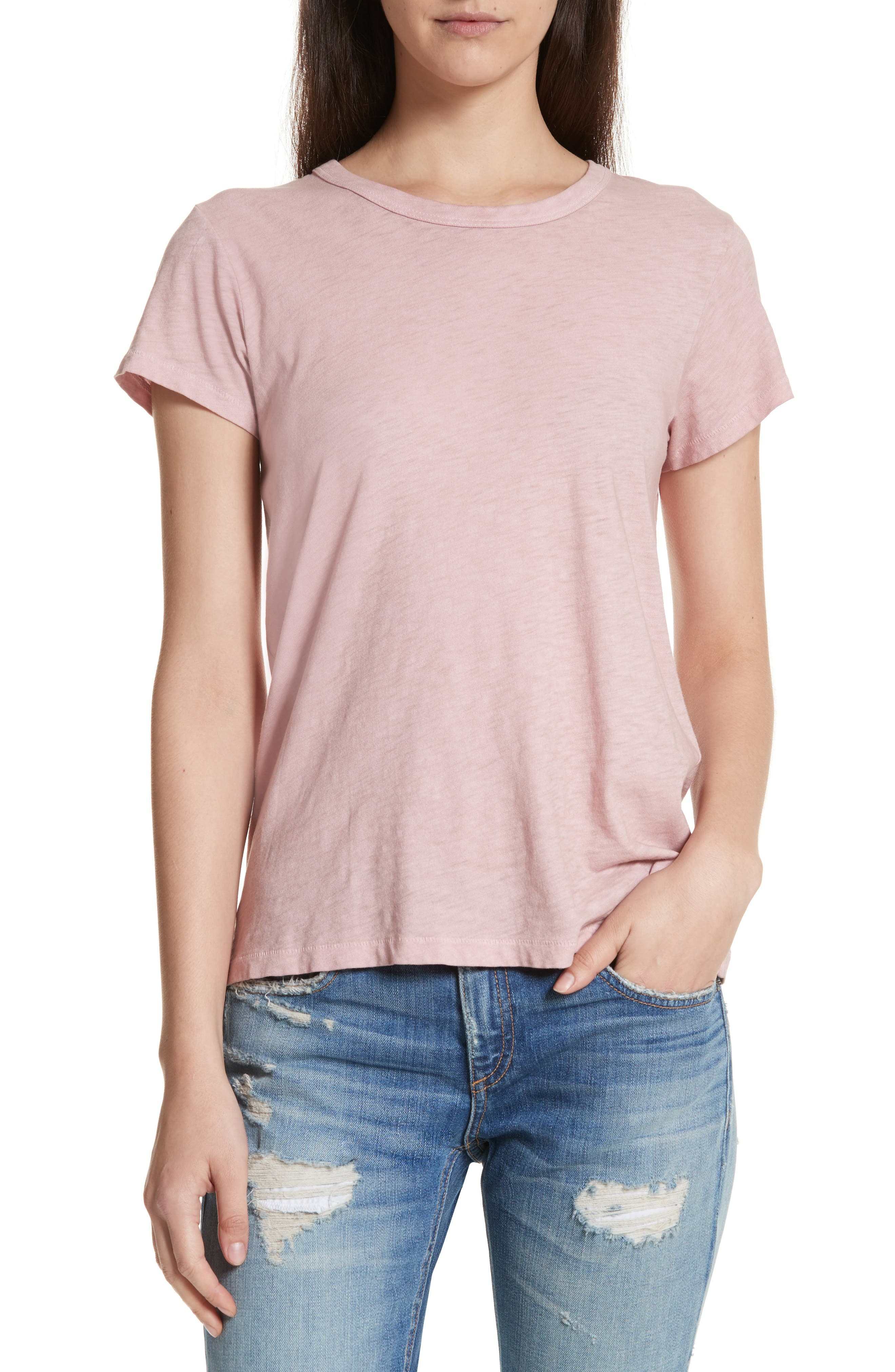 The Tee,                         Main,                         color, Greyed Pink