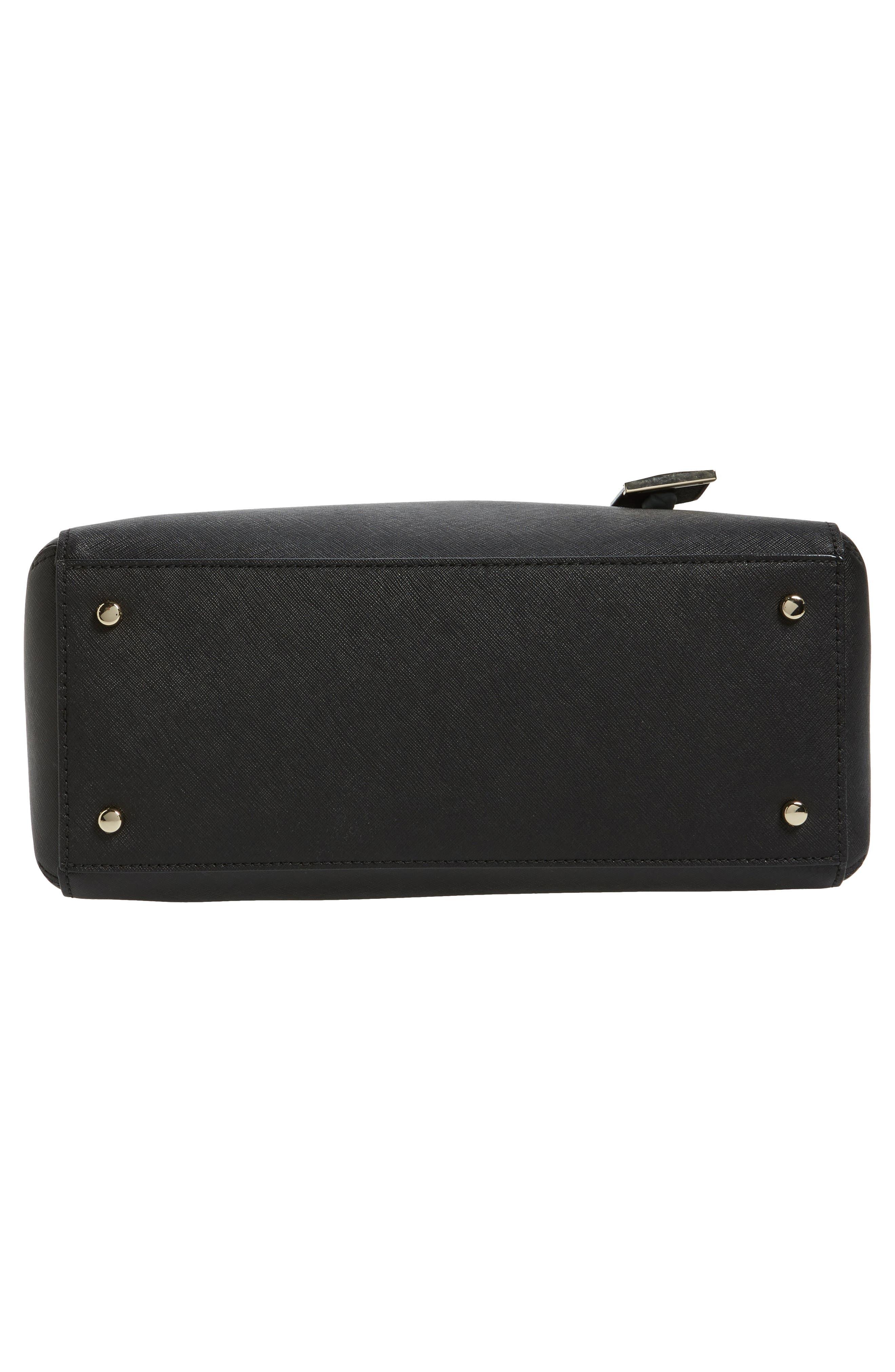 mega cameron street - lane leather satchel,                             Alternate thumbnail 5, color,                             Black