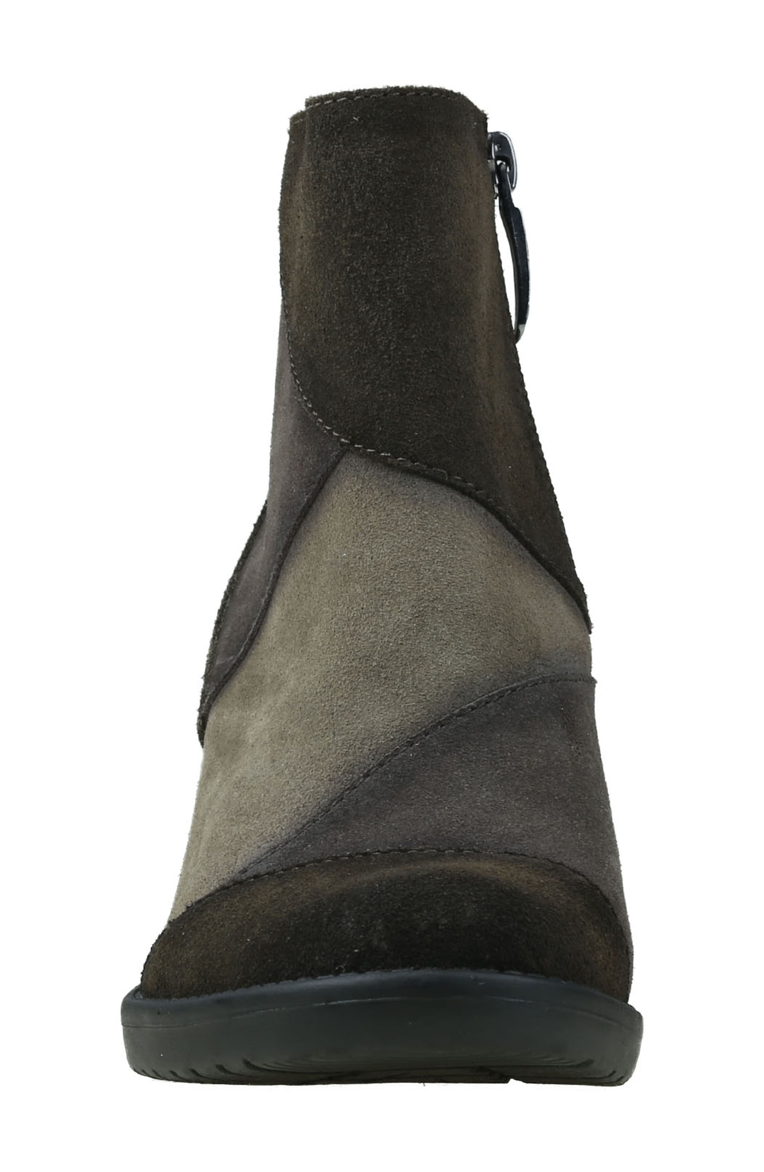 Malta Water Resistant Bootie,                             Alternate thumbnail 4, color,                             Olive Suede