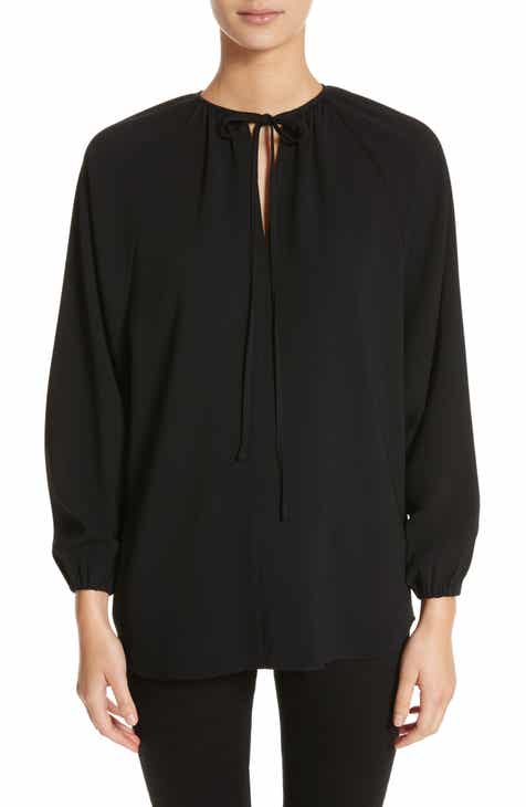Co Tie Neck Blouse
