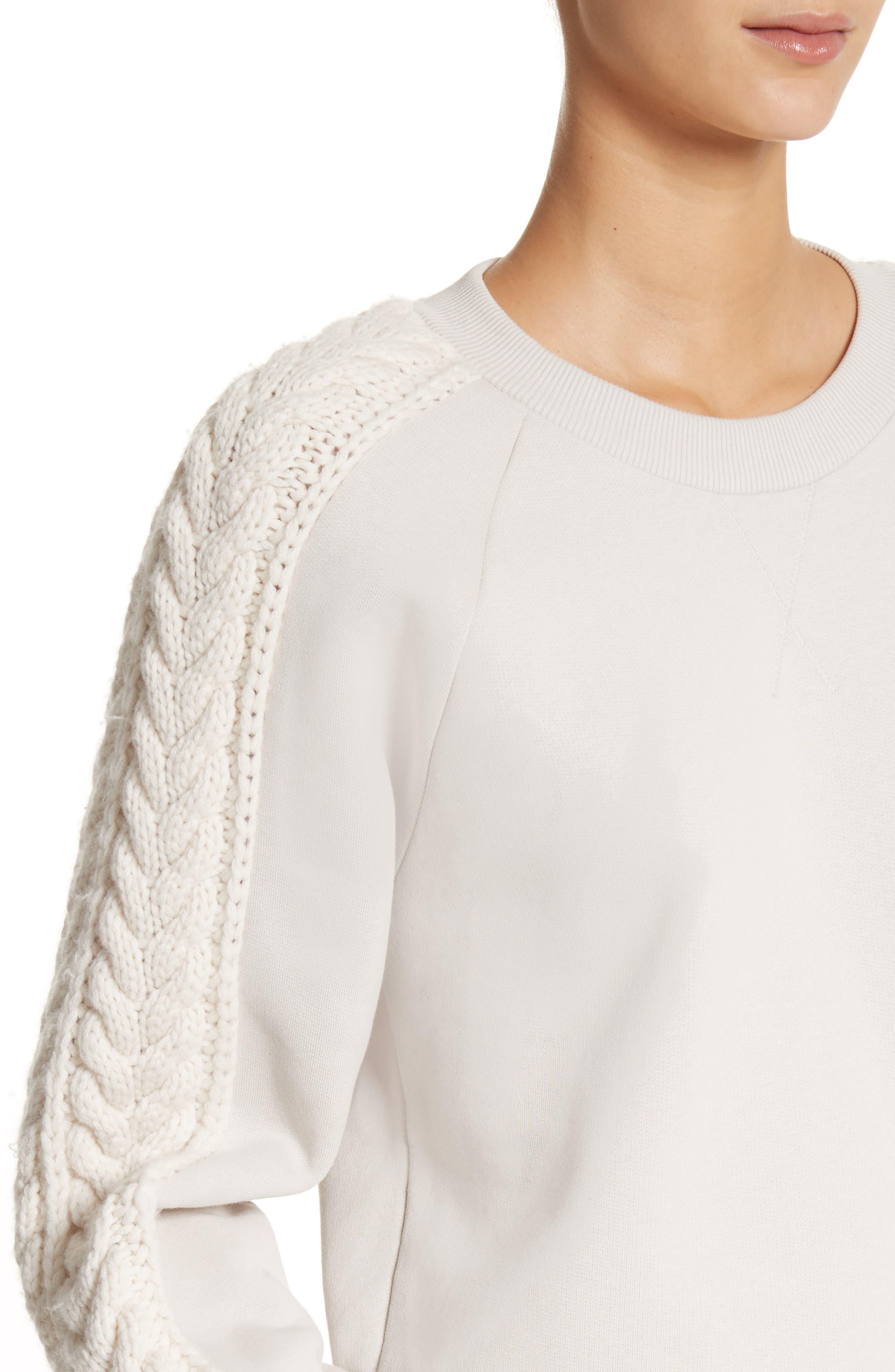 Selho Sweatshirt,                             Alternate thumbnail 4, color,                             Winter White