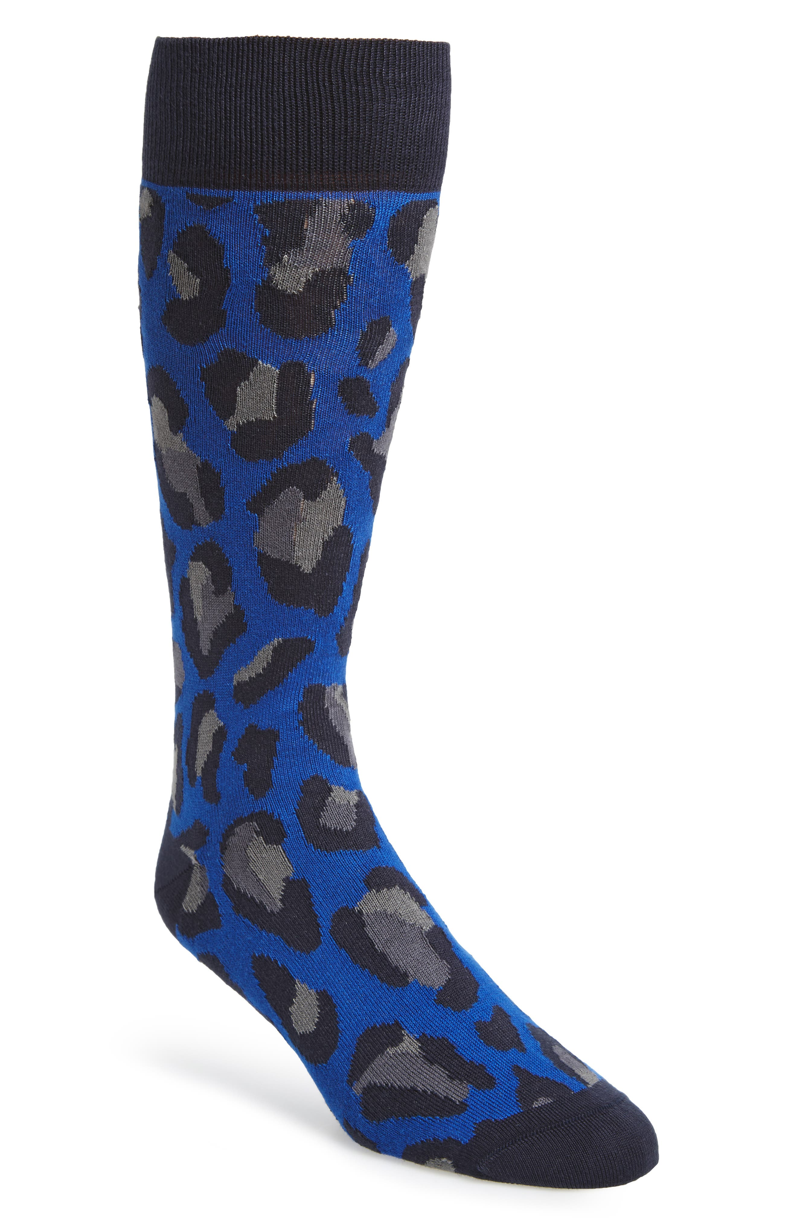 Camo Socks,                             Main thumbnail 1, color,                             Blue