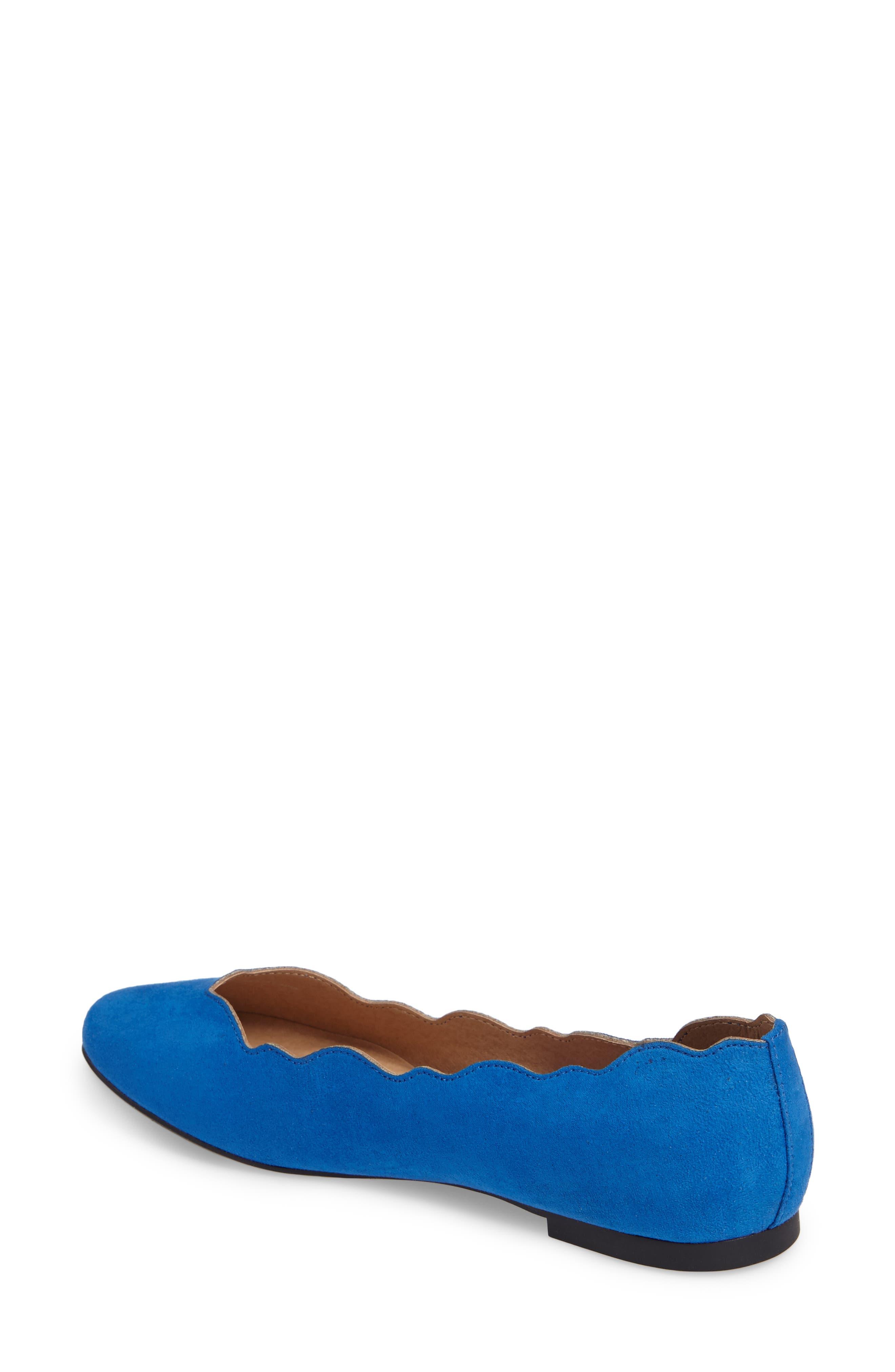 Tallye Ballet Flat,                             Alternate thumbnail 2, color,                             Royal Blue Faux Suede