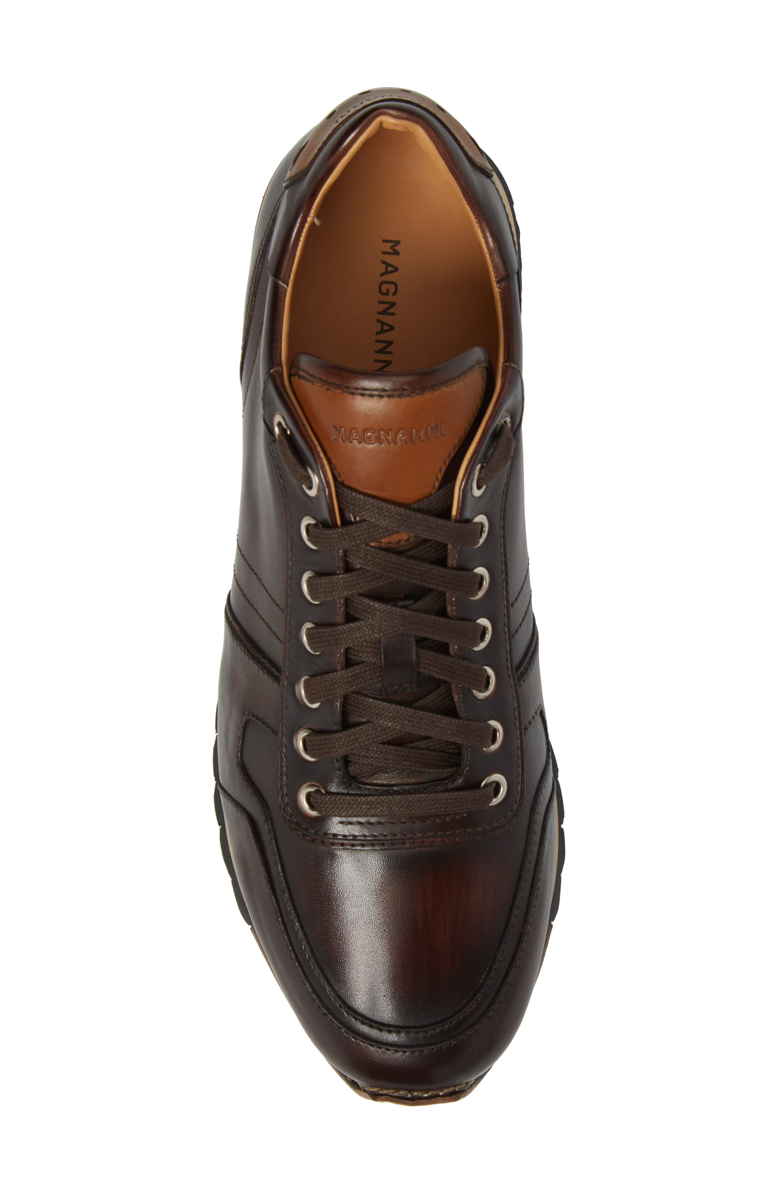 Galio Sneaker,                             Alternate thumbnail 5, color,                             Brown Leather