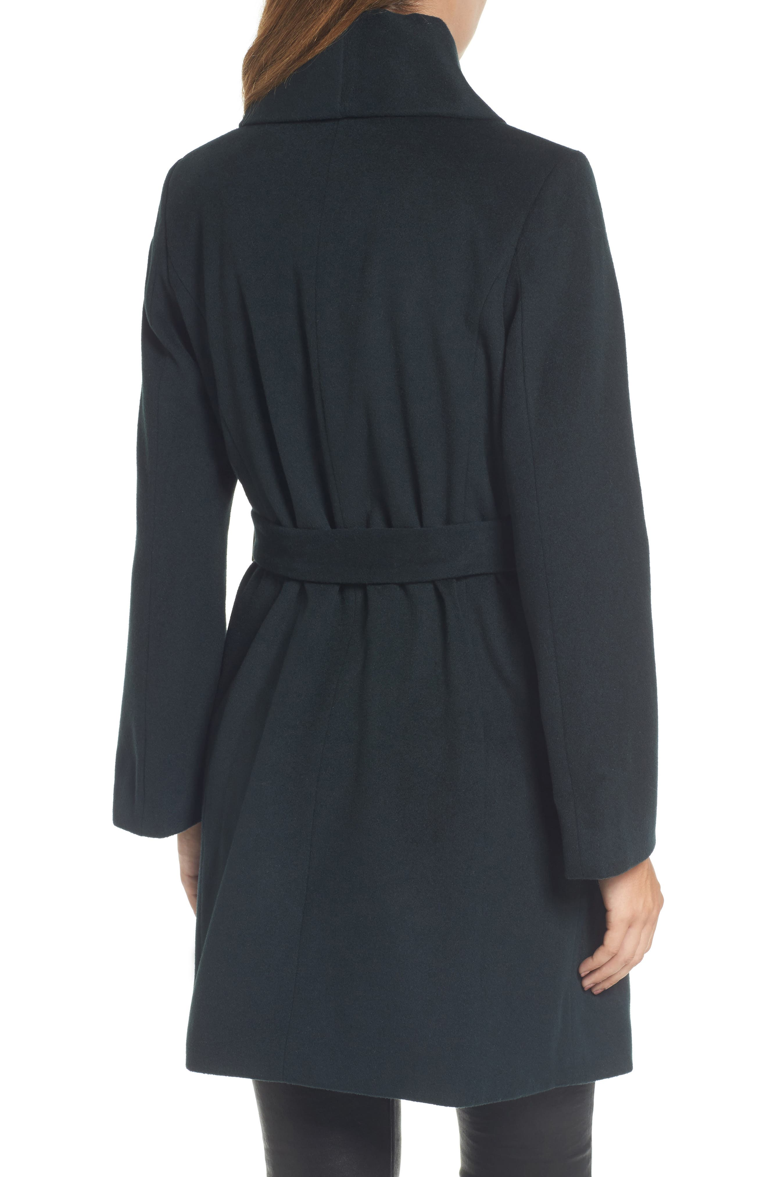Alternate Image 2  - Tahari Gabrielle Wool Blend Long Wrap Coat