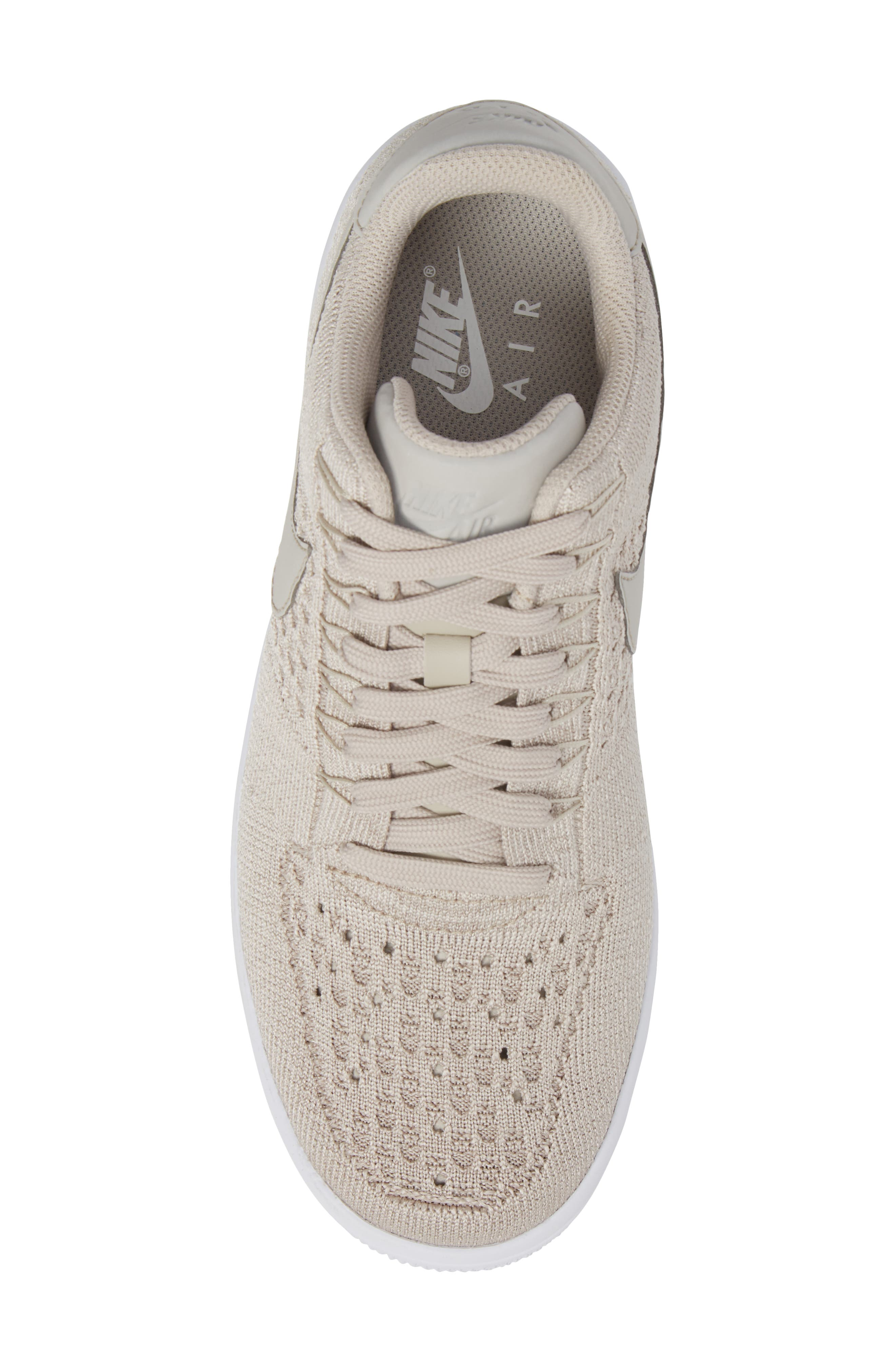 Air Force 1 Ultra Flyknit Low Sneaker,                             Alternate thumbnail 5, color,                             String/ String/ White