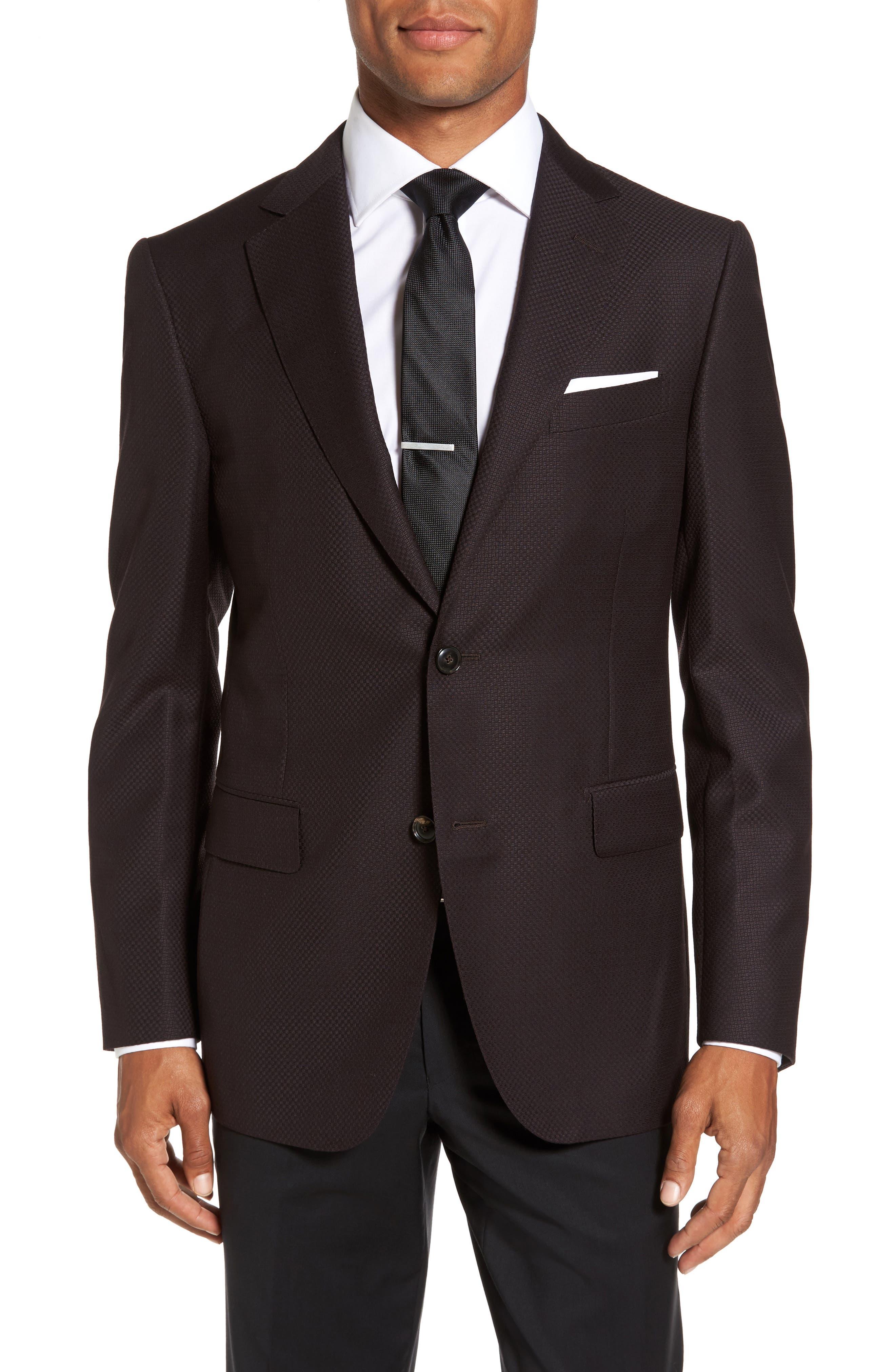 Classic Fit Wool Blazer,                         Main,                         color, Bordeaux
