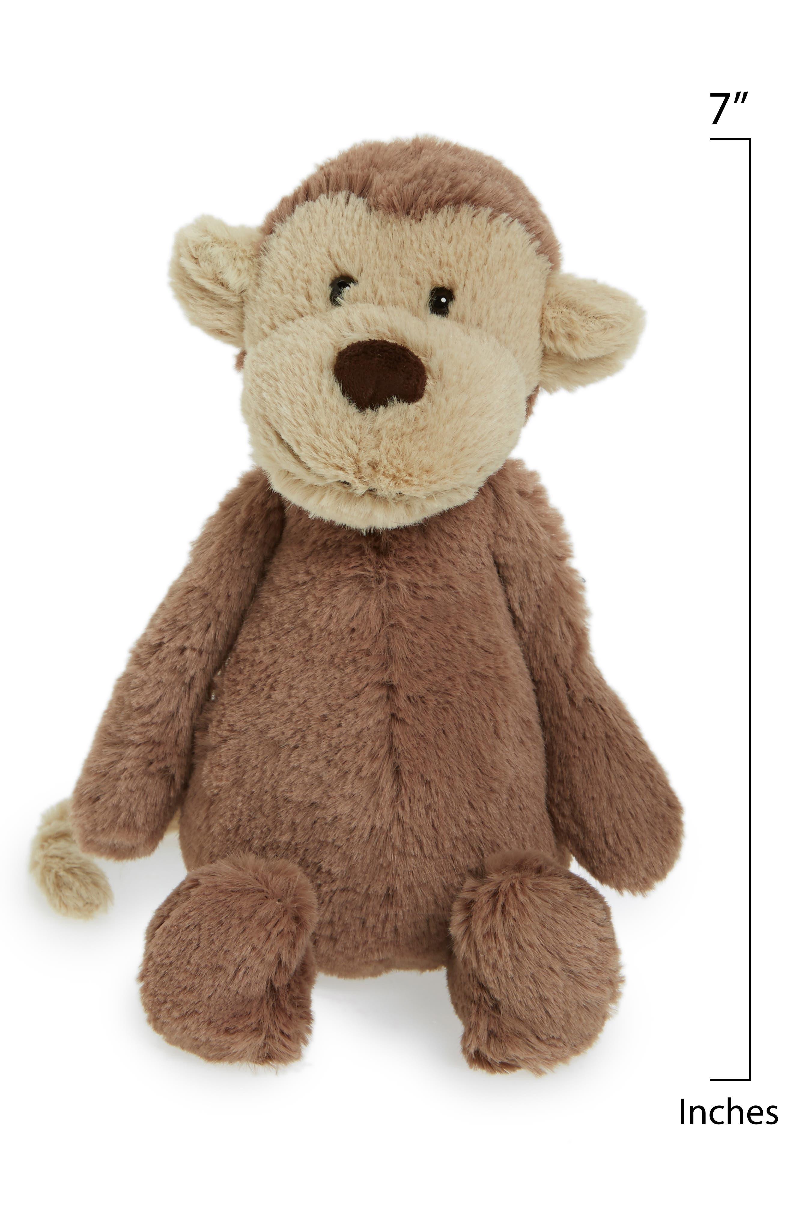 Alternate Image 2  - Jellycat 'Small Bashful Monkey' Stuffed Animal