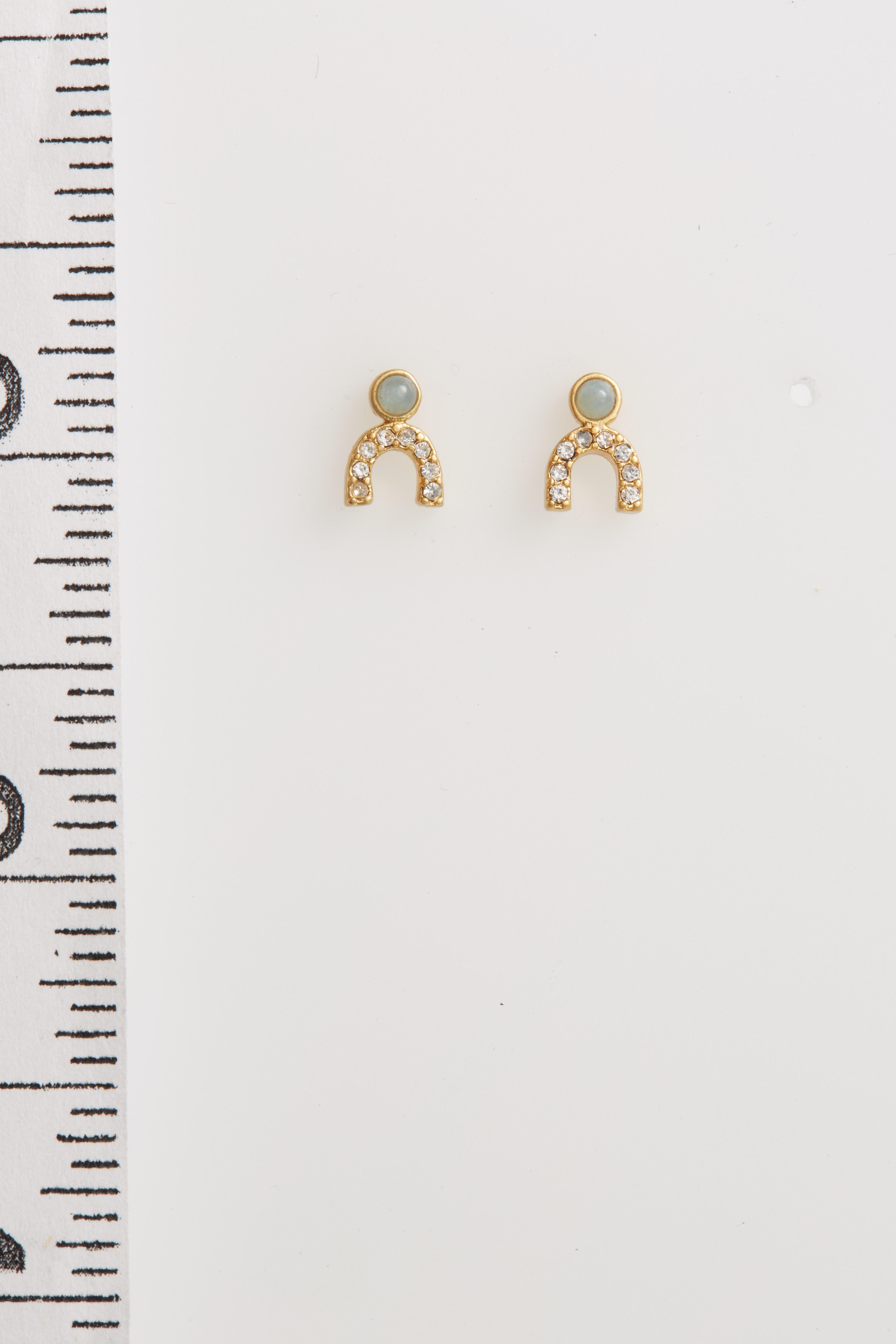 Tiny Jewels Stud Earrings,                         Main,                         color, Amazonite
