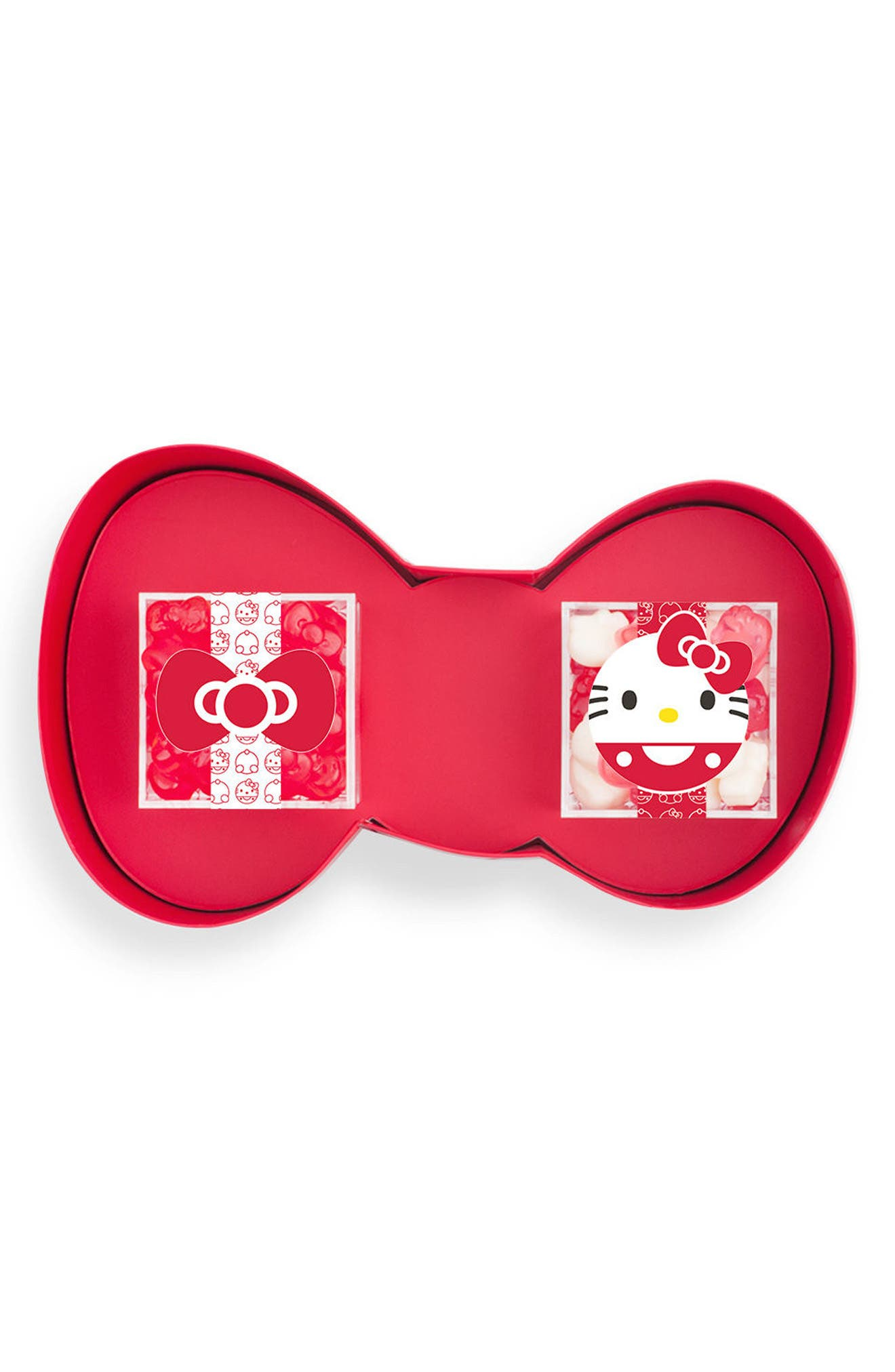 Hello Kitty<sup>®</sup> 2-Piece Gummy Candy Bento Box,                             Main thumbnail 1, color,                             Red