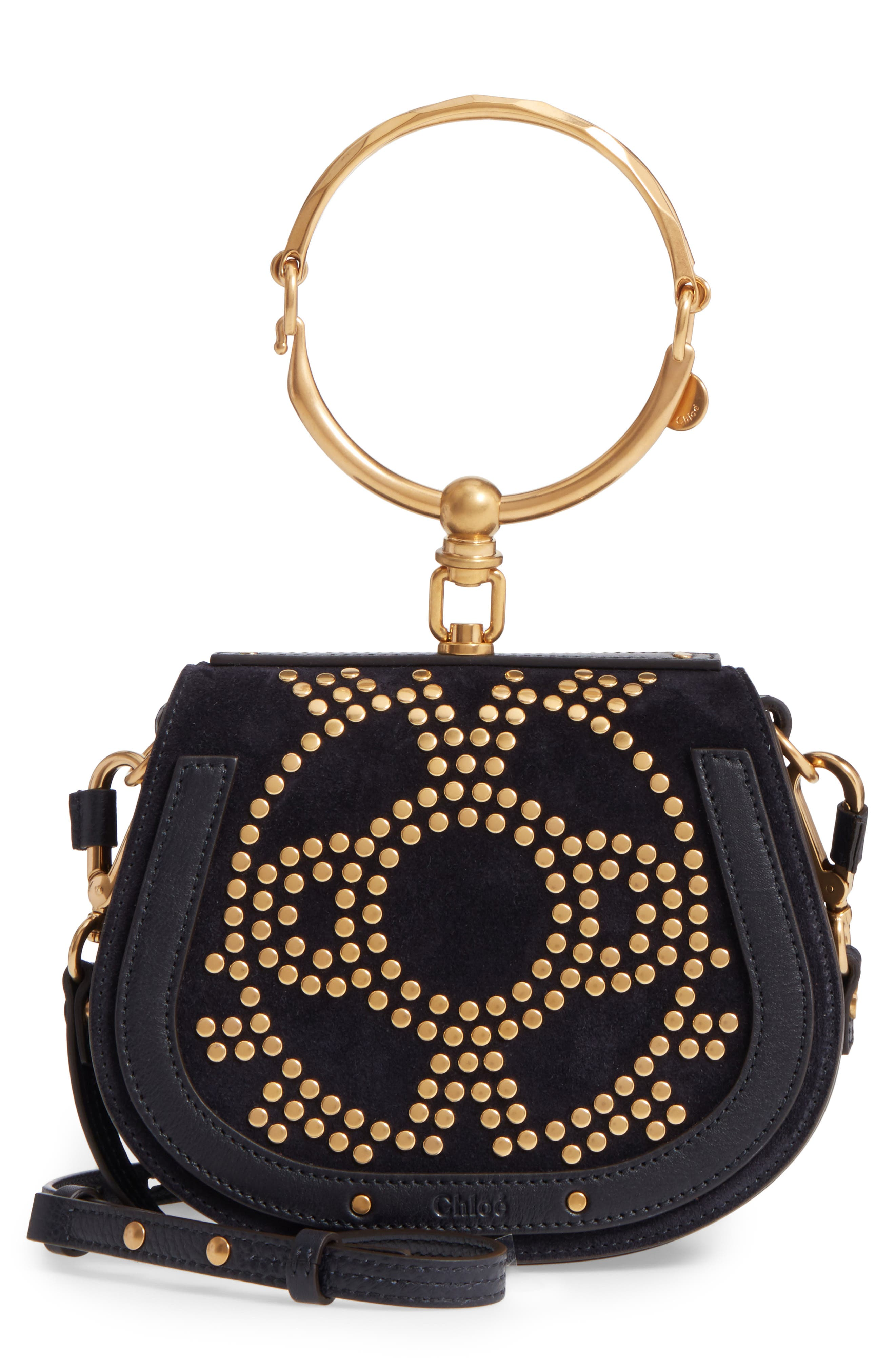 Main Image - Chloé Small Nile Bracelet Studded Leather Crossbody Bag