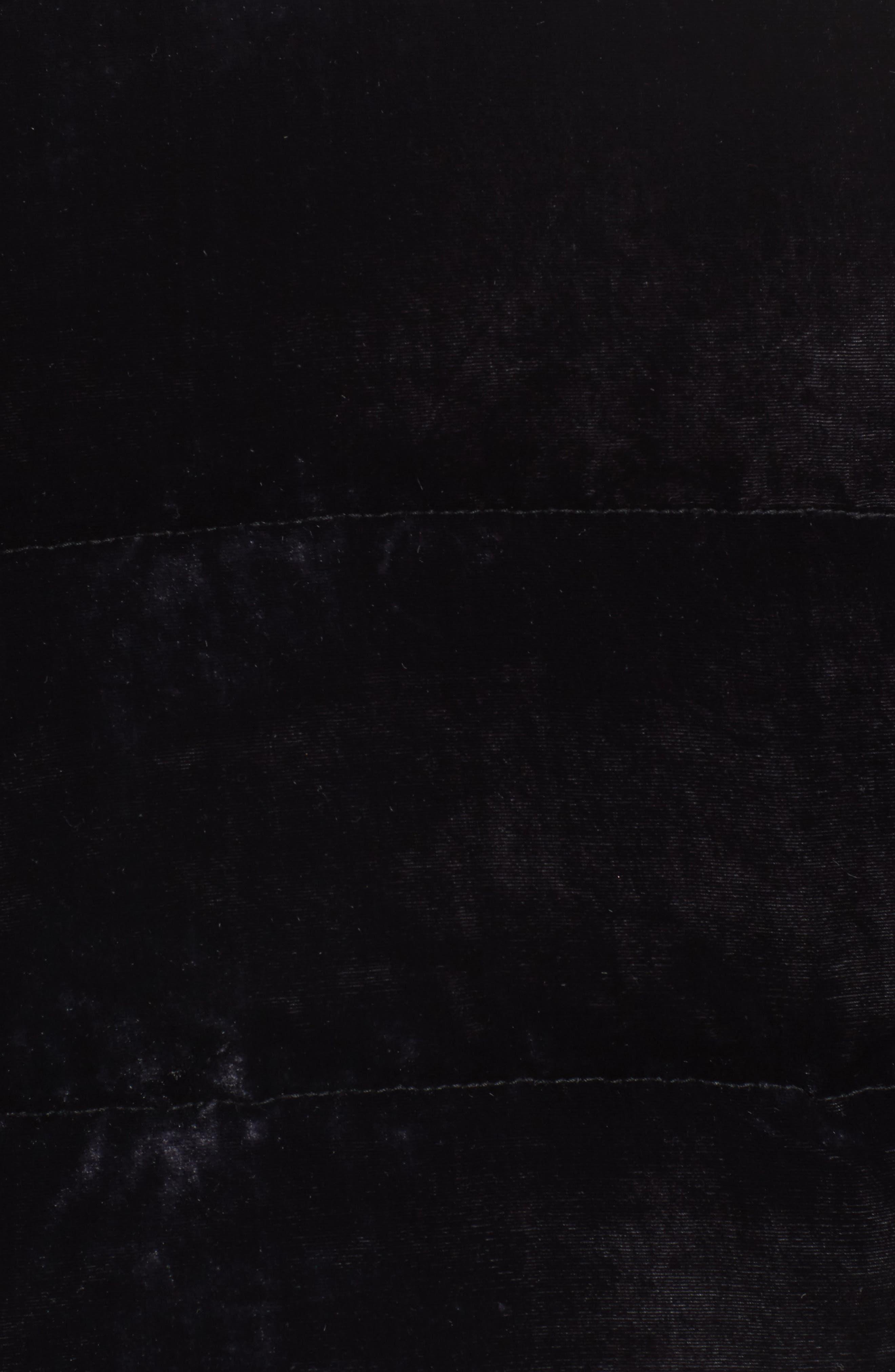 Velvet Puffer Jacket,                             Alternate thumbnail 5, color,                             Purple Night