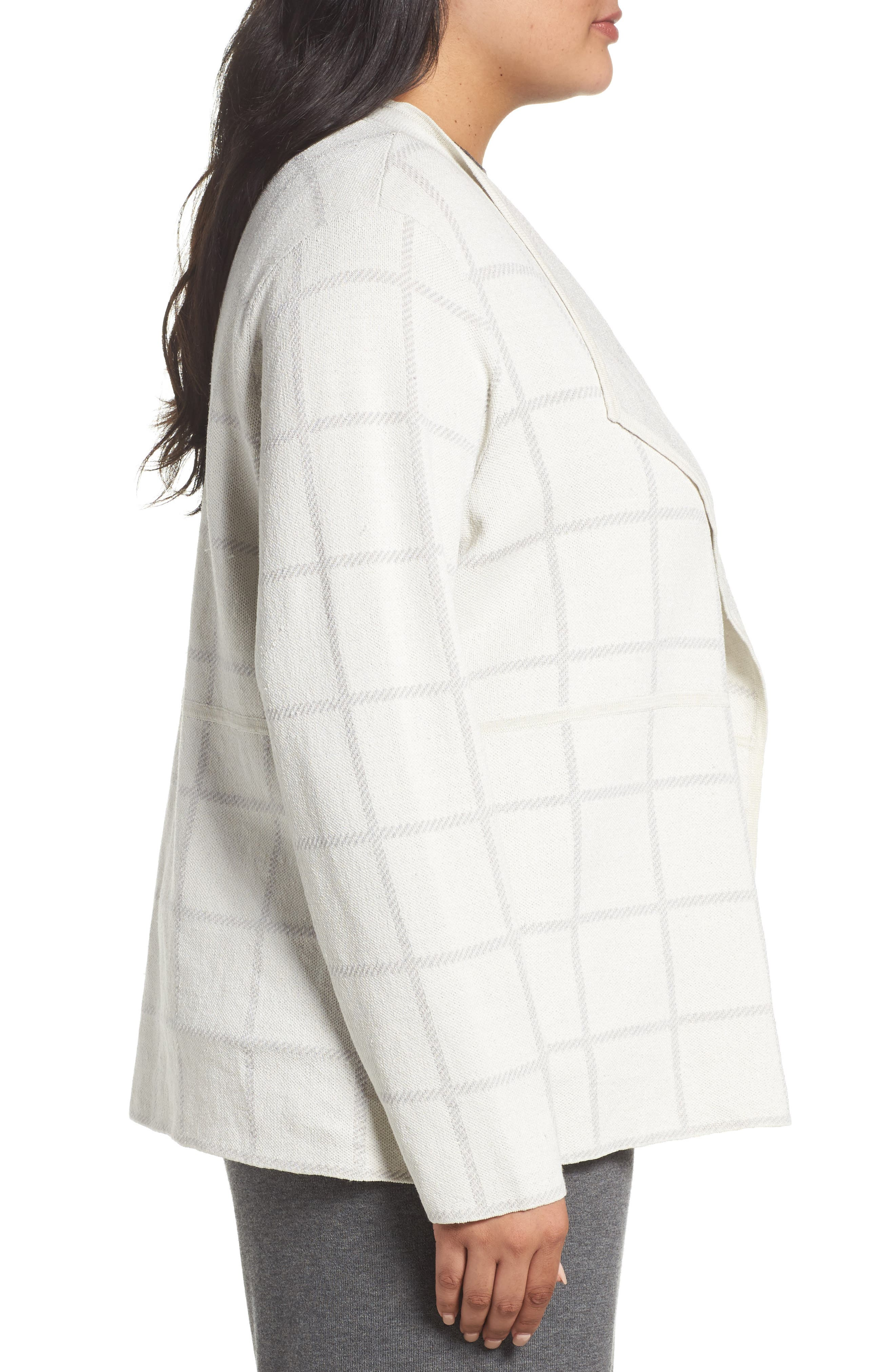 Alternate Image 3  - Eileen Fisher Angle Front Cardigan (Plus Size)