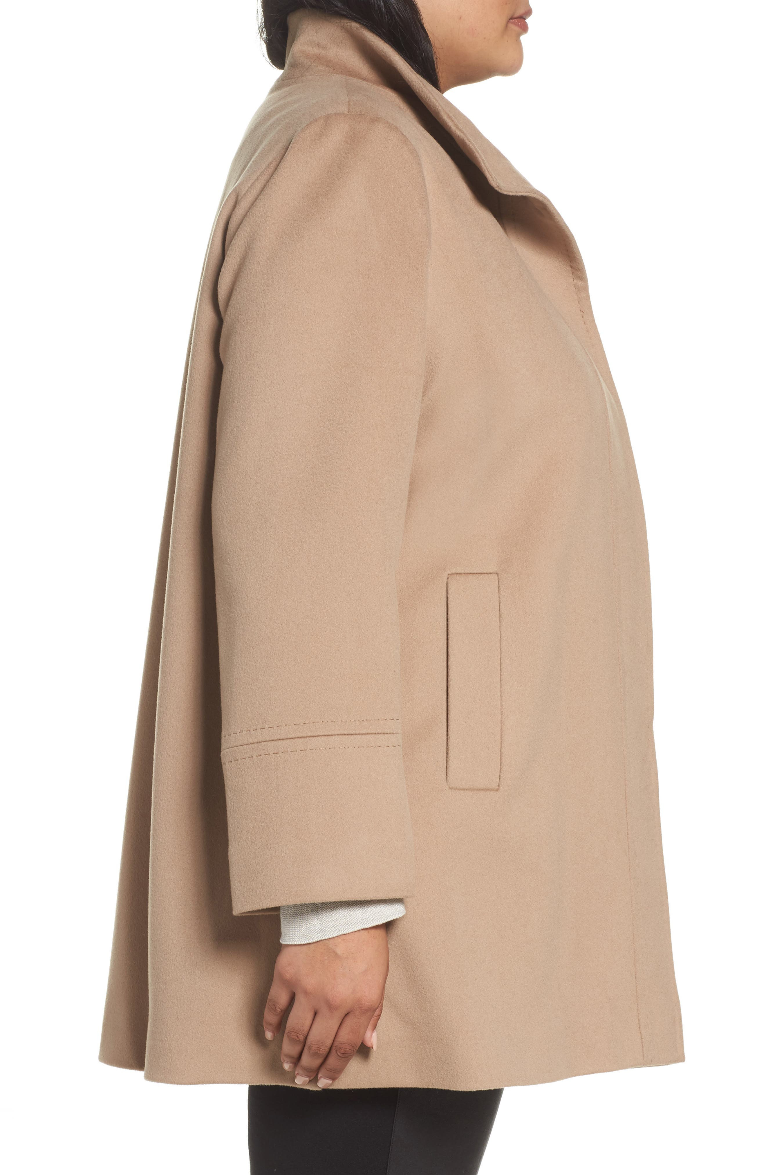 Alternate Image 3  - Fleurette Wool Car Coat (Plus Size) (Nordstrom Exclusive)
