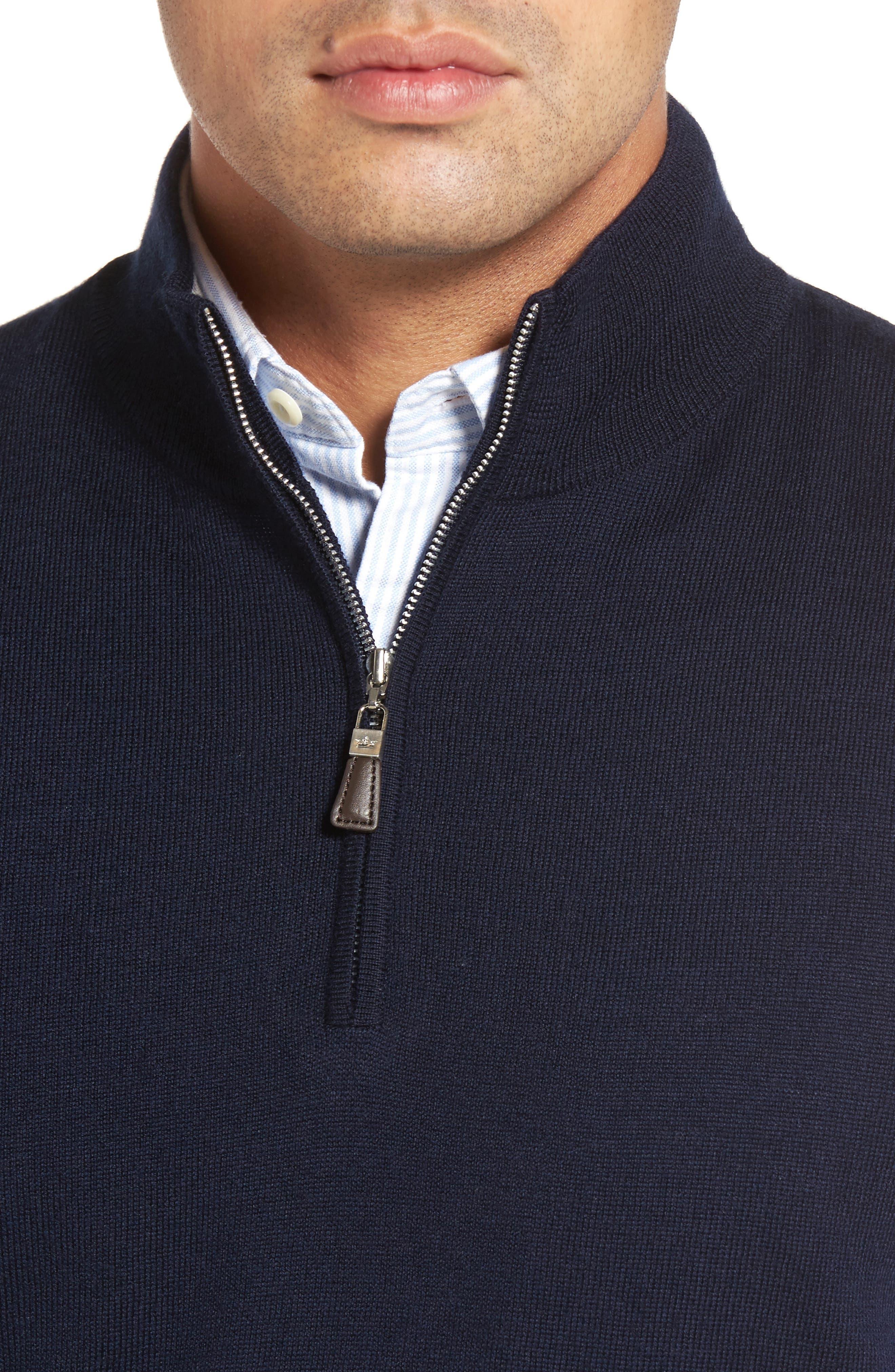 Alternate Image 4  - Peter Millar Crown Soft Merino Blend Quarter Zip Vest