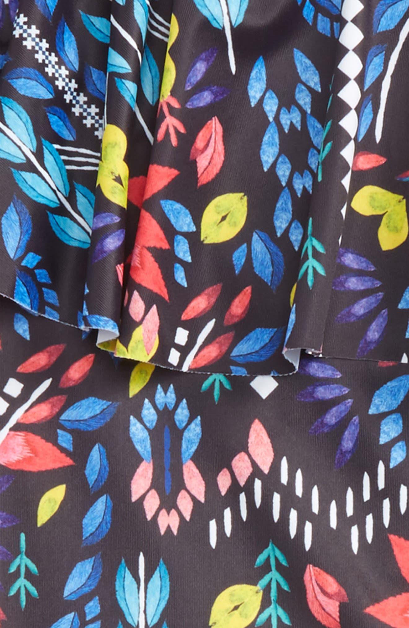 Mexicana Fiesta One-Piece Swimsuit,                             Alternate thumbnail 2, color,                             Black Multi