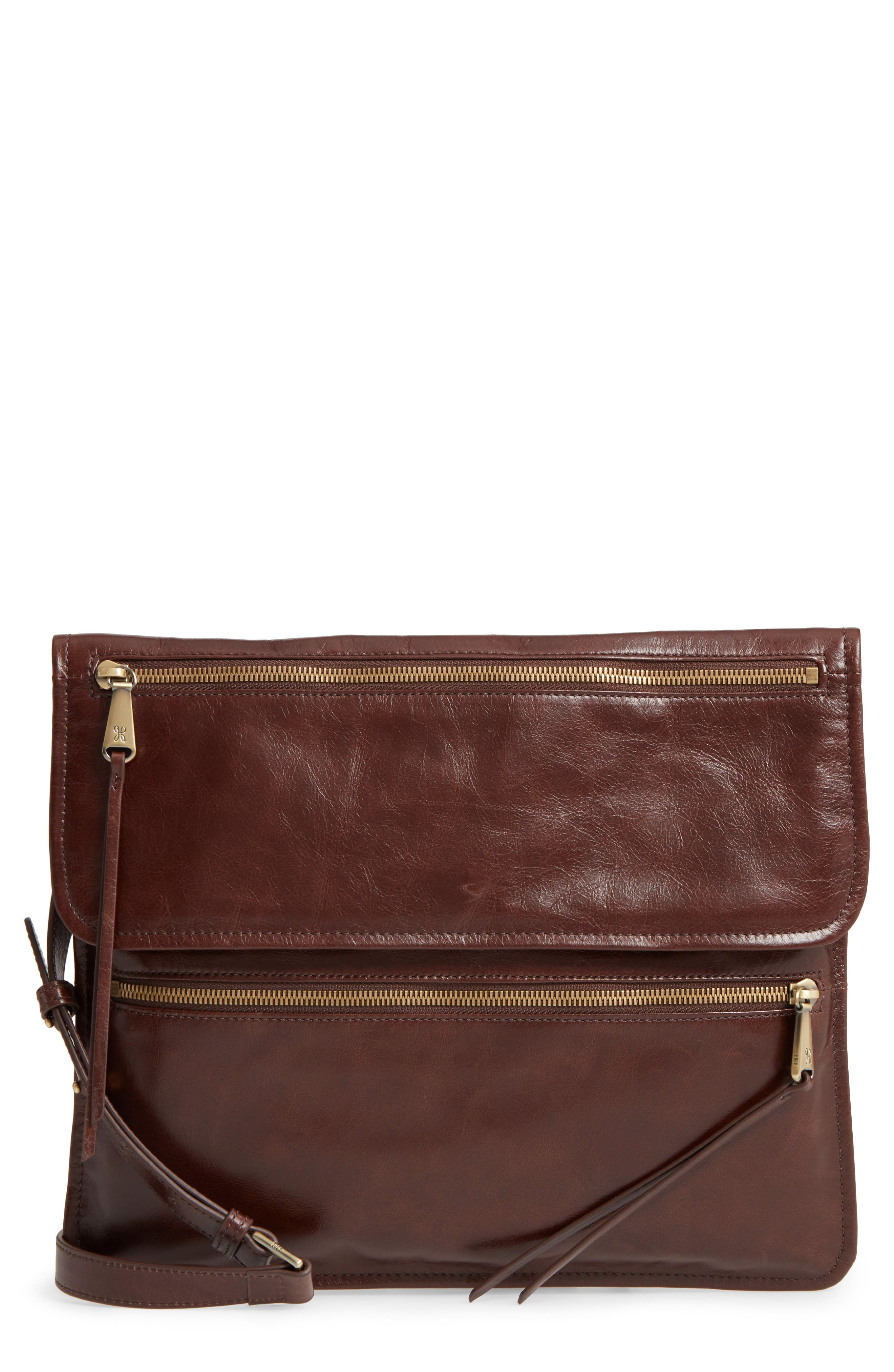 Hobo Vista Calfskin Leather Messenger Bag