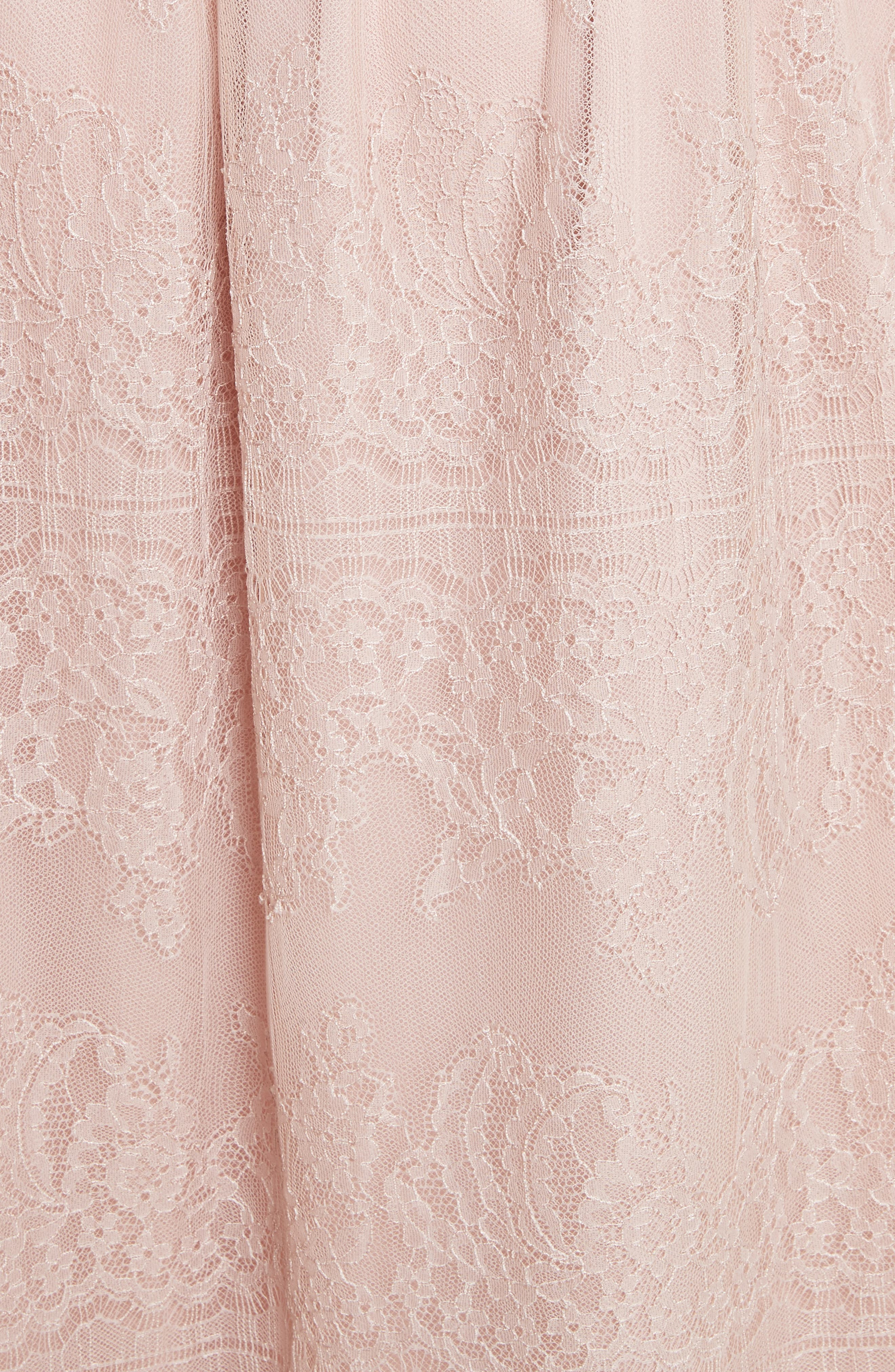 Chantilly Lace Gathered Skirt,                             Alternate thumbnail 5, color,                             Powder