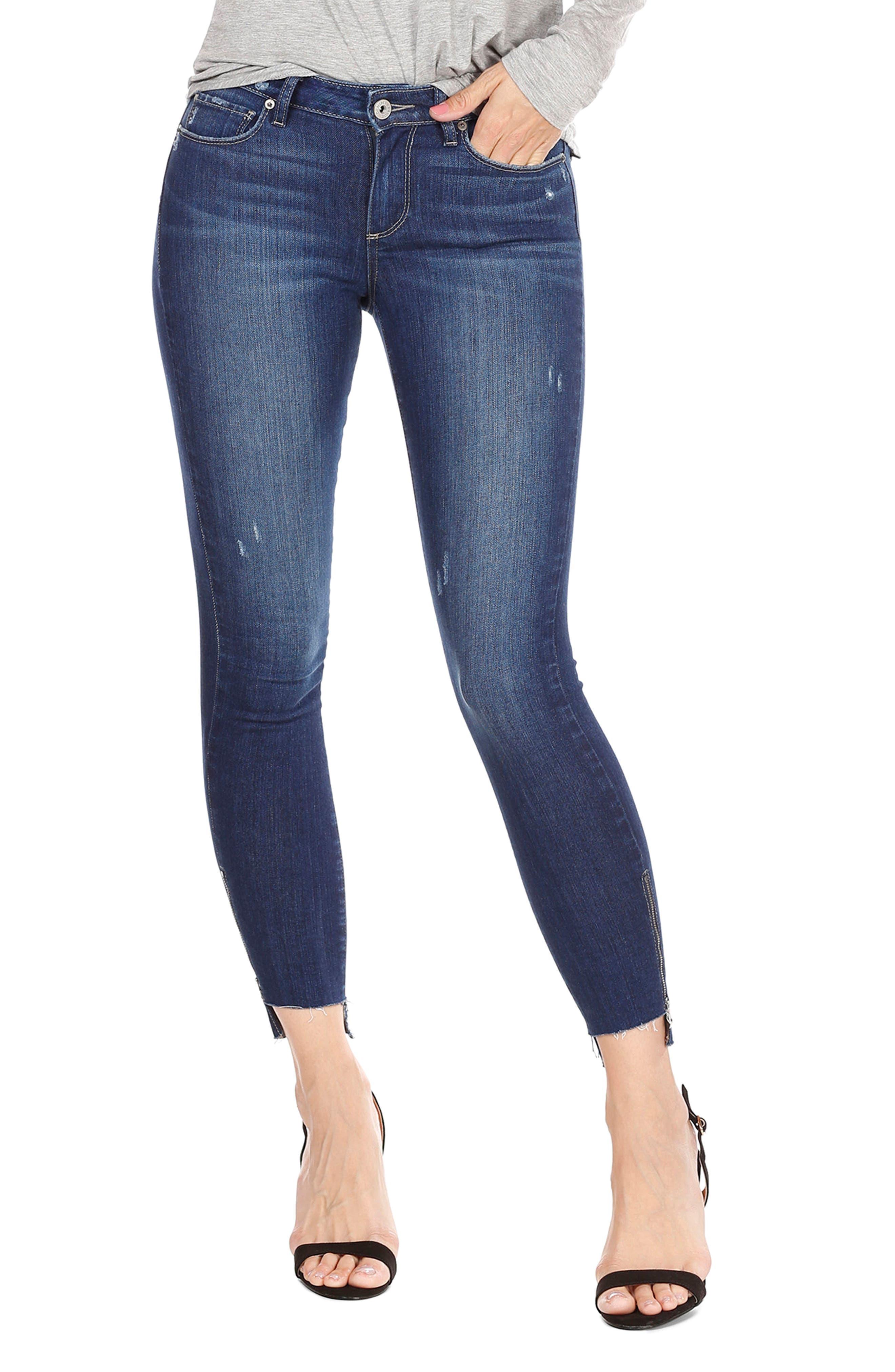 Main Image - PAIGE Hoxton High Waist Ankle Skinny Jeans (Marina)