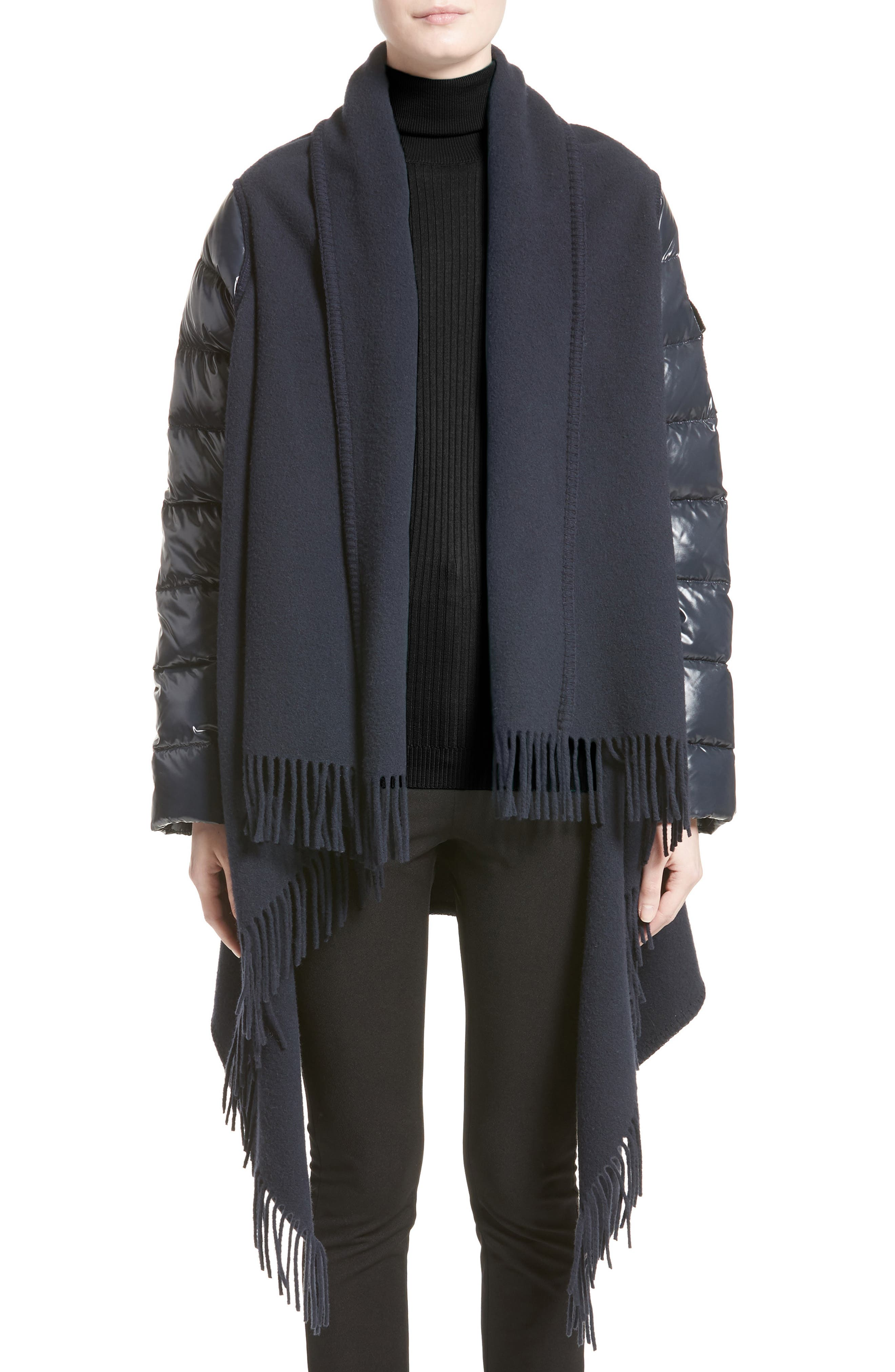 Mantella Quilted Sleeve Wrap Sweater,                         Main,                         color, Navy