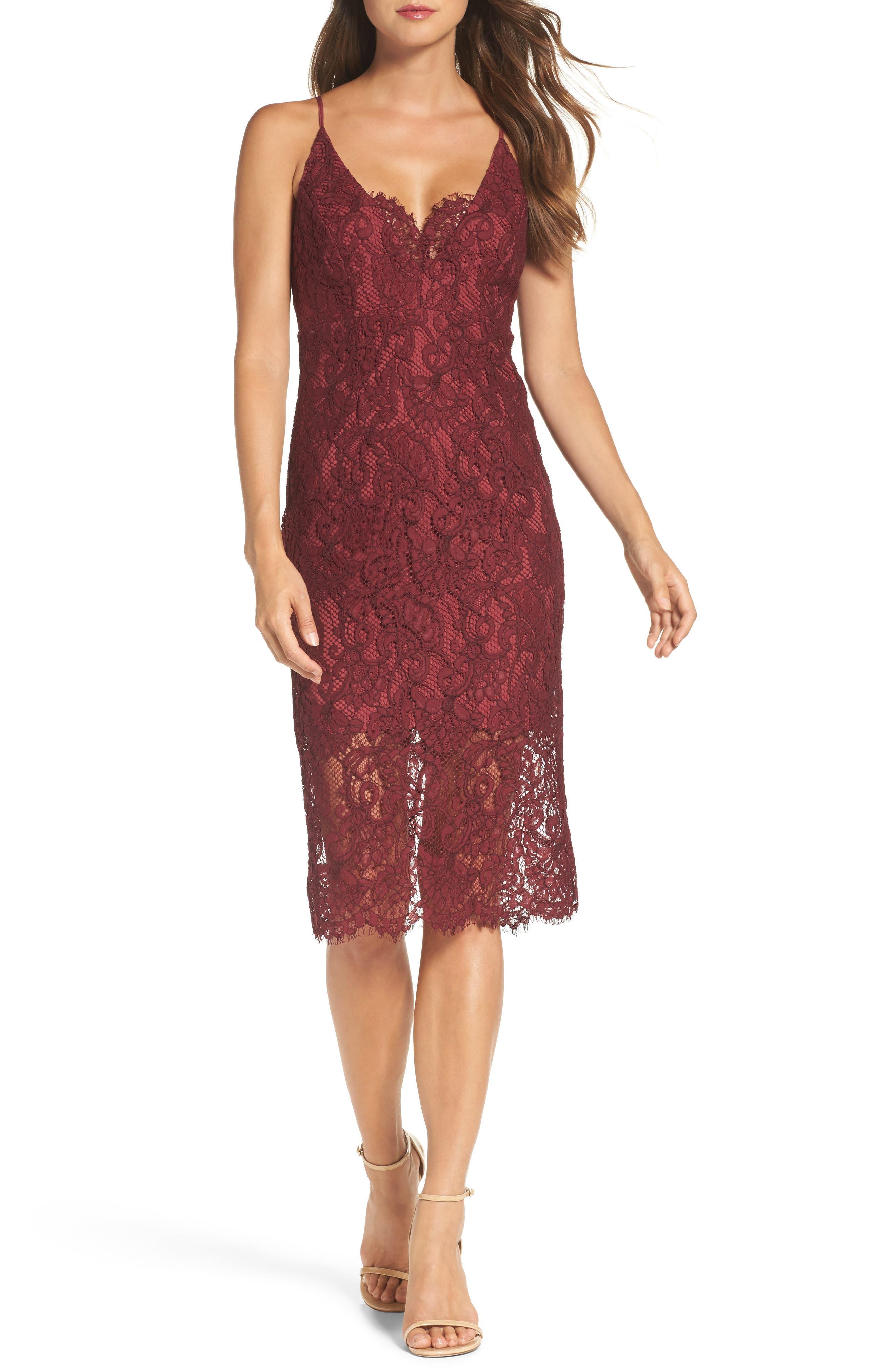 Main Image - Bardot Lace Pencil Dress
