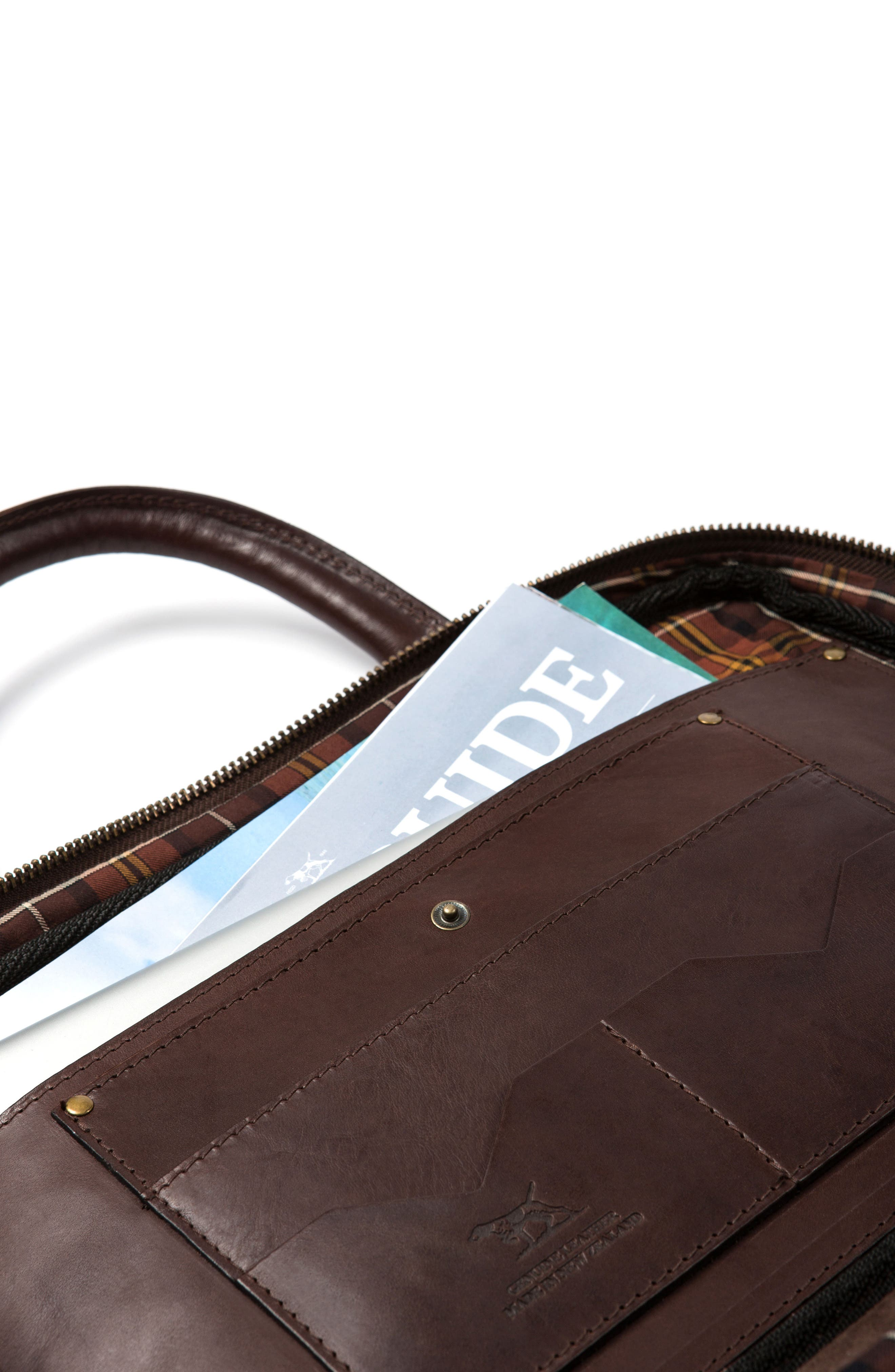 Britomart Leather Briefcase,                             Alternate thumbnail 5, color,                             Mud