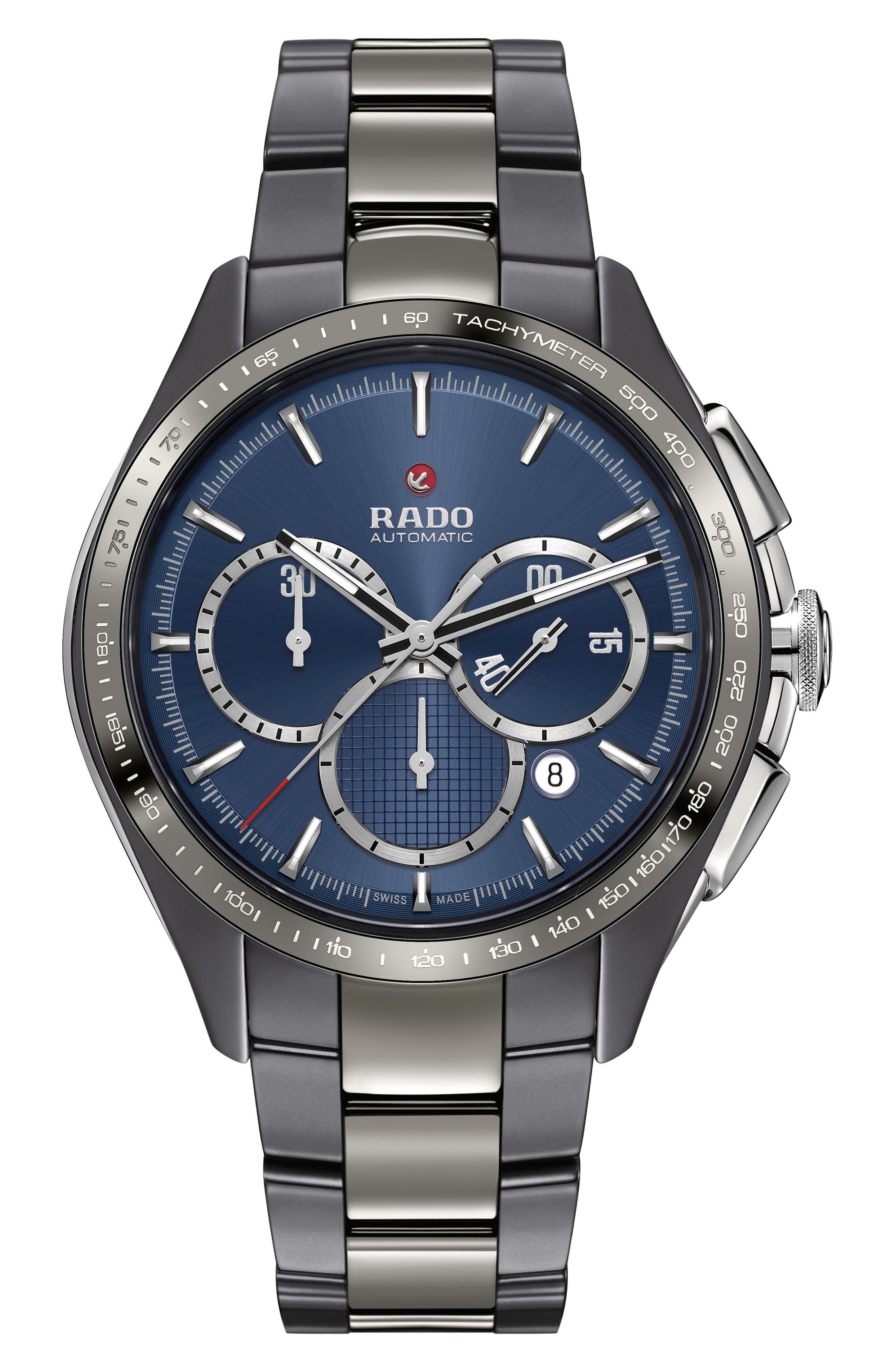 Main Image - RADO HyperChrome Match Point Automatic Chronograph Watch, 45mm