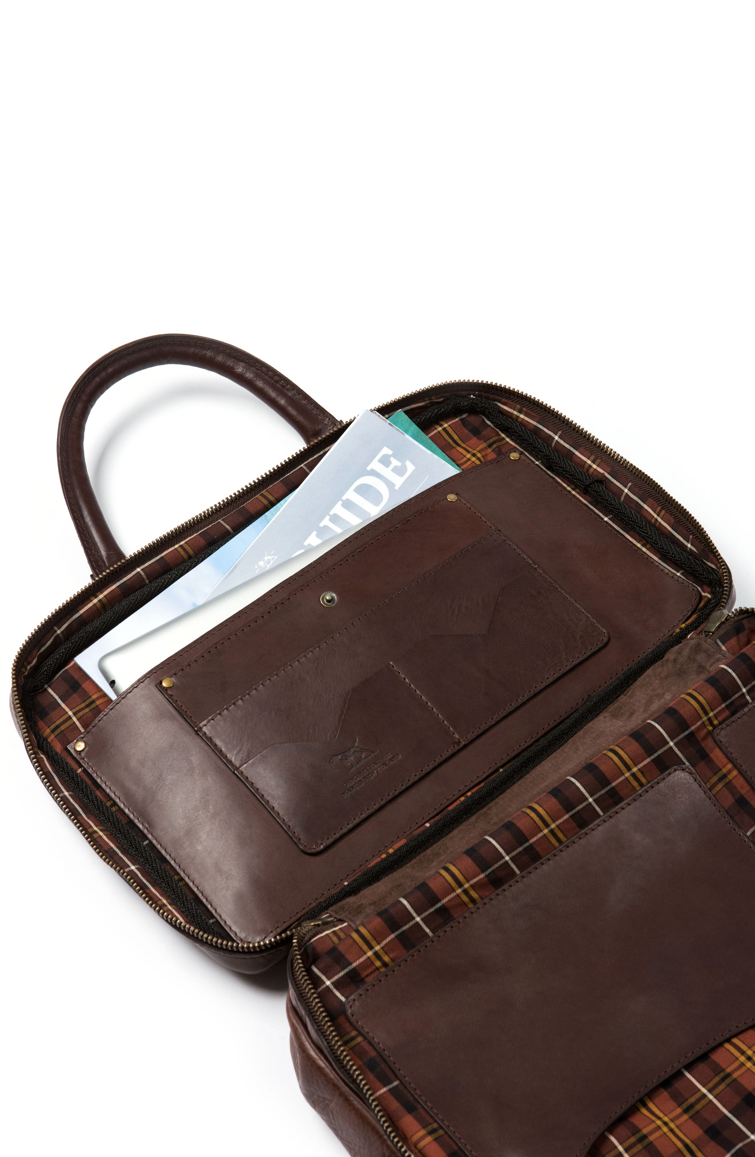 Britomart Leather Briefcase,                             Alternate thumbnail 6, color,                             Mud