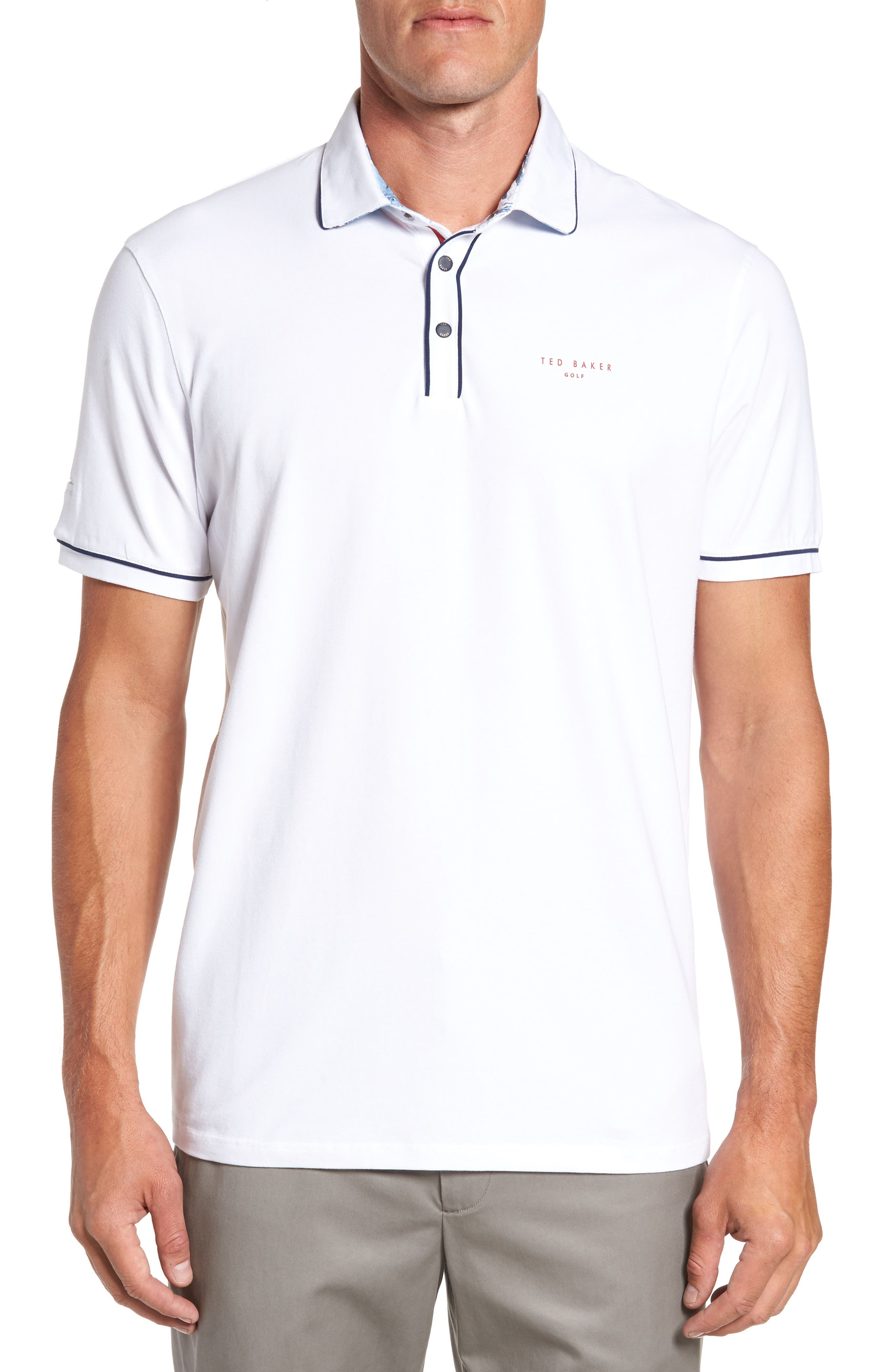 Ted Baker London Offset Modern Slim Fit Golf Polo