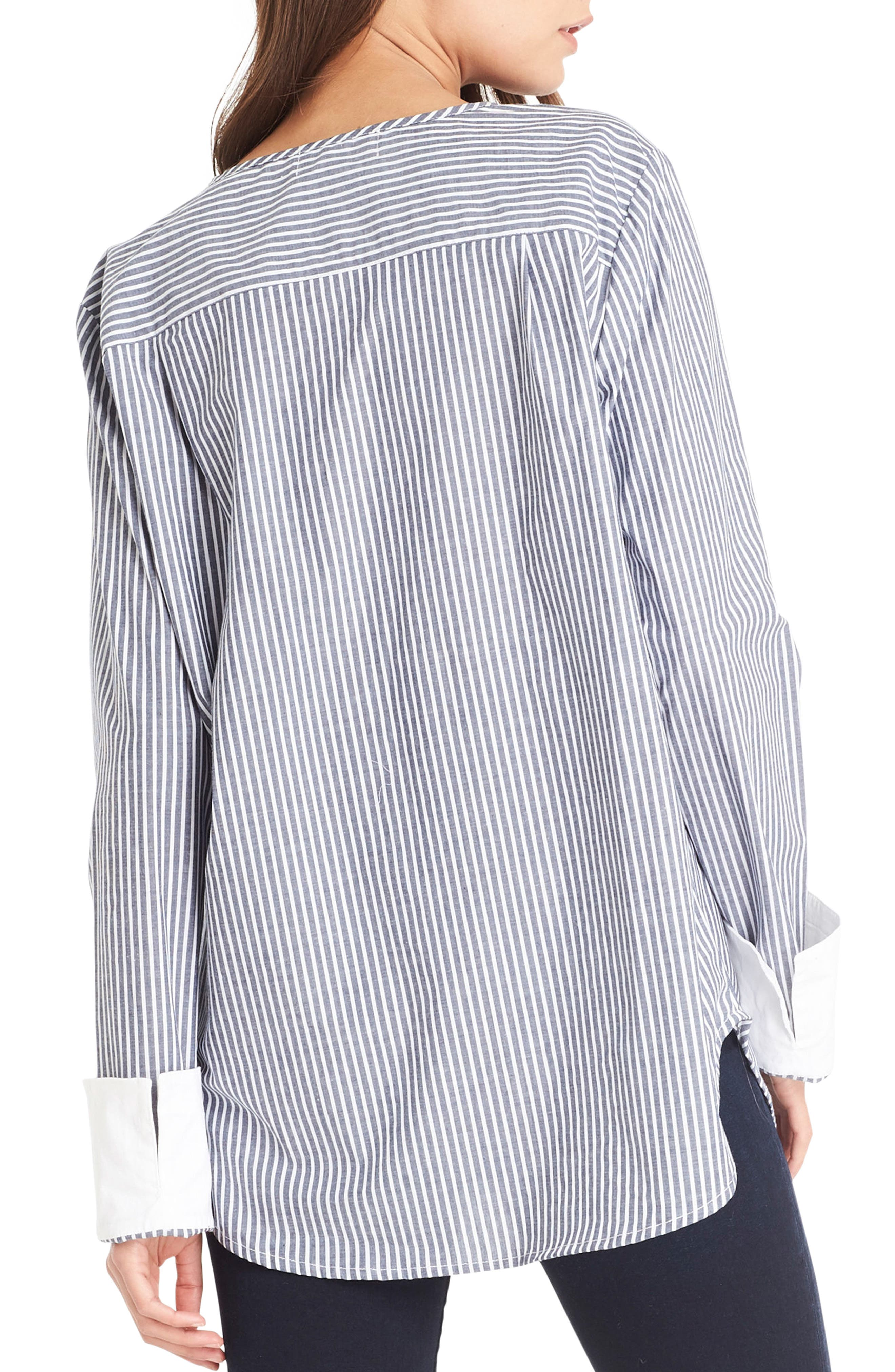 Contrast Cuff Shirt,                             Alternate thumbnail 2, color,                             Noct/ White
