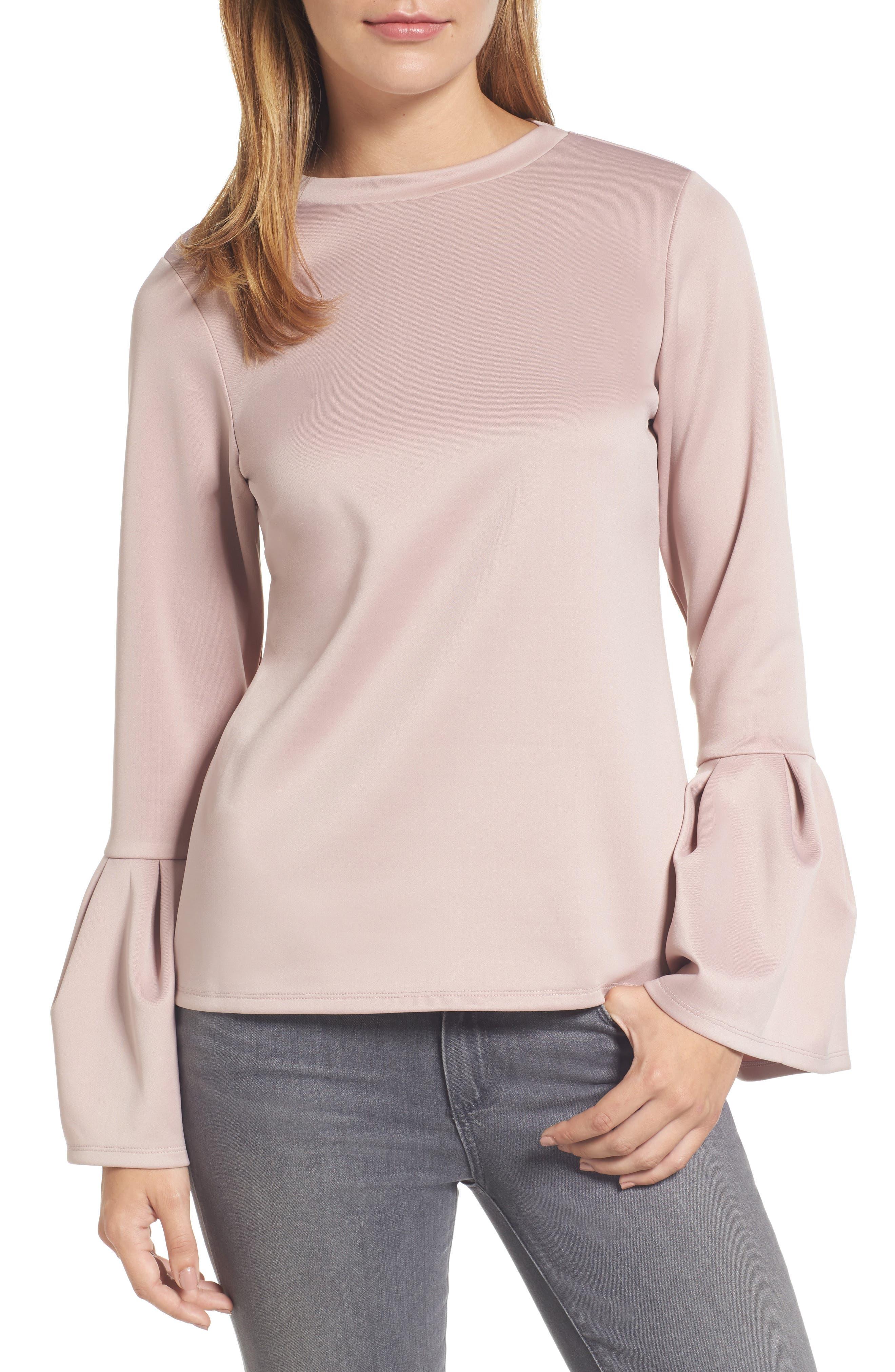 Halogen® Bell Sleeve Top (Regular & Petite)