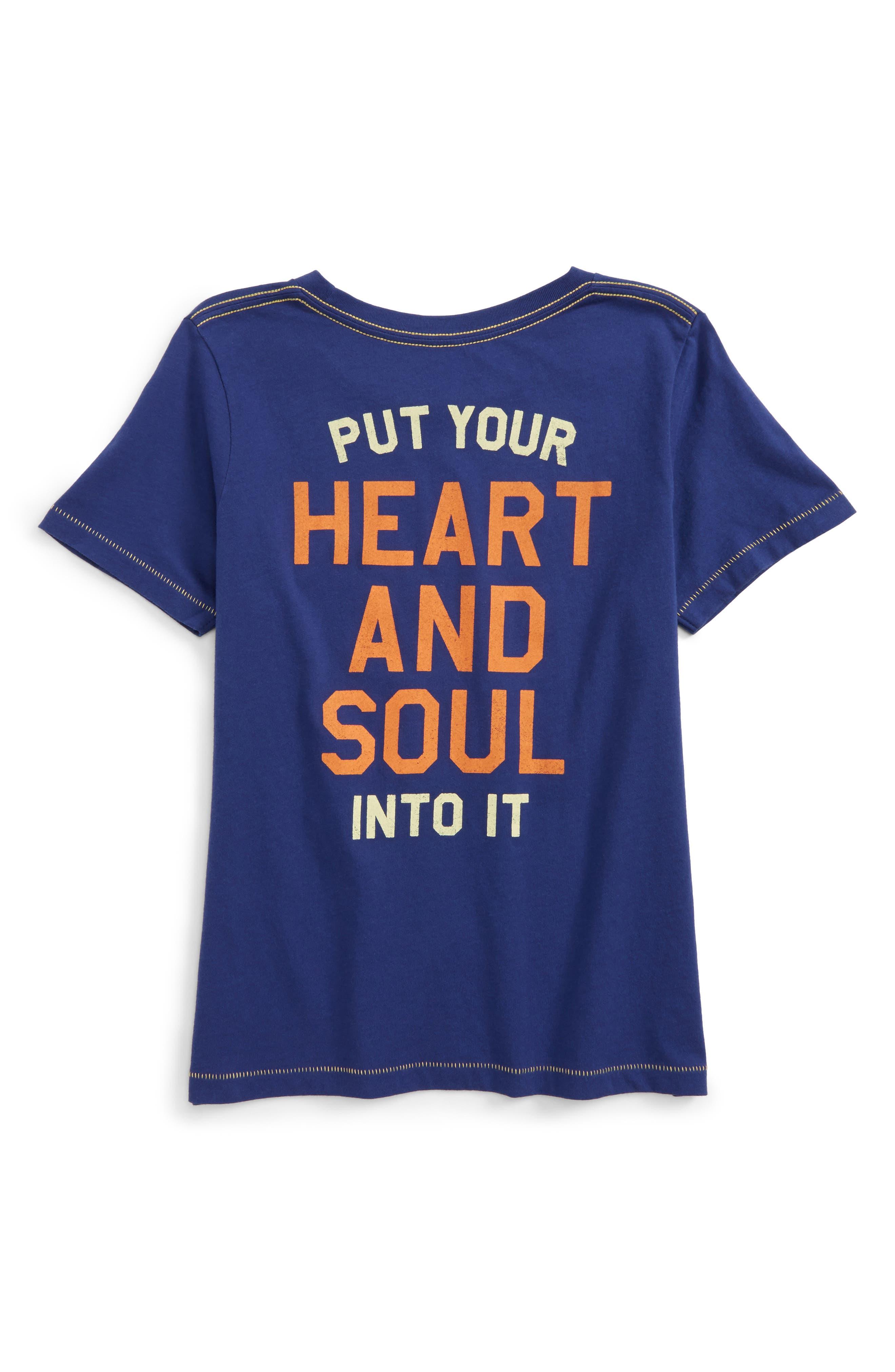 Alternate Image 2  - Peek Heartbeat T-Shirt (Toddler Boys, Little Boys & Big Boys)