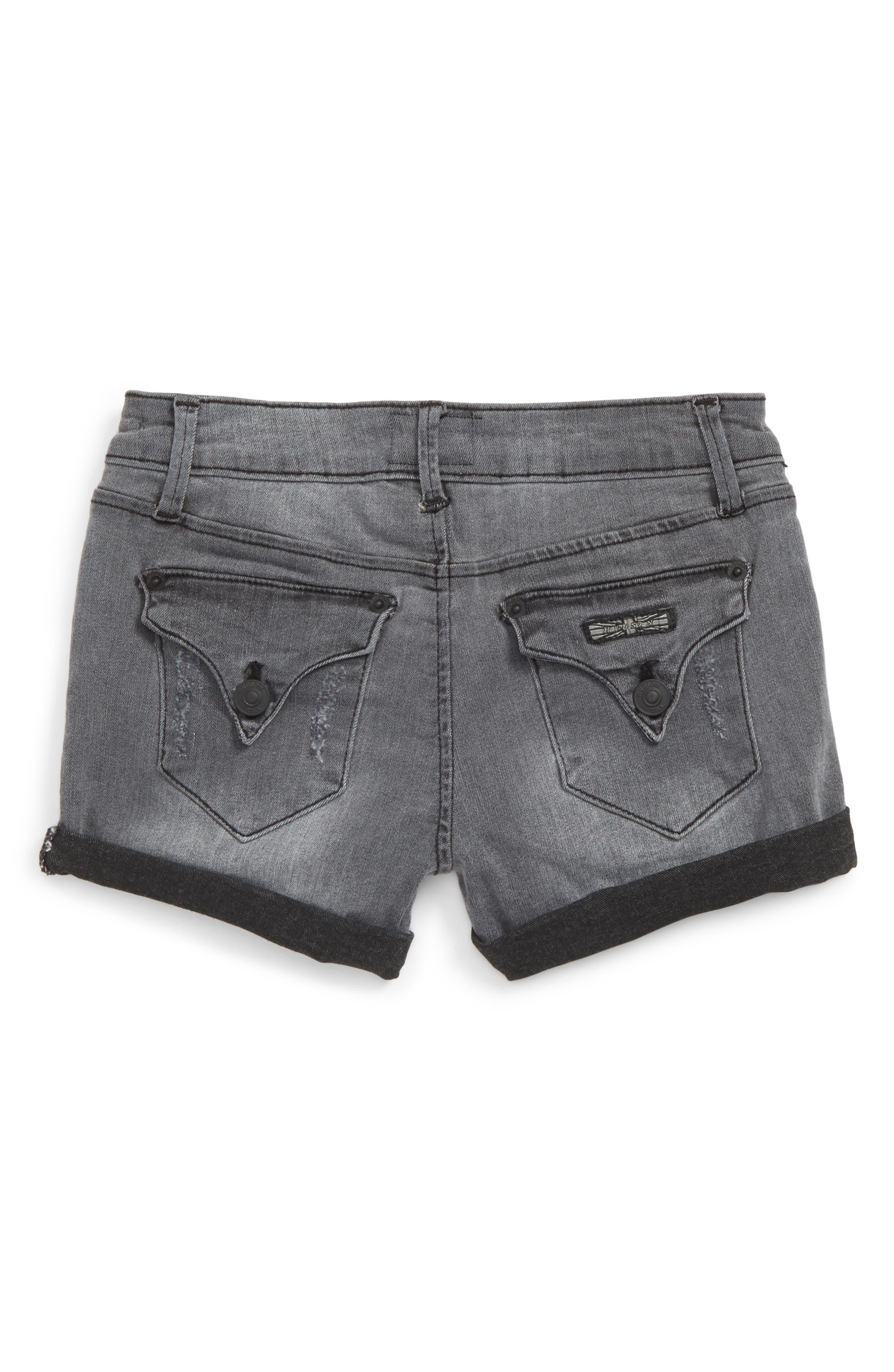 Alternate Image 2  - Hudson Kids Roll Cuff Denim Shorts (Big Girls)