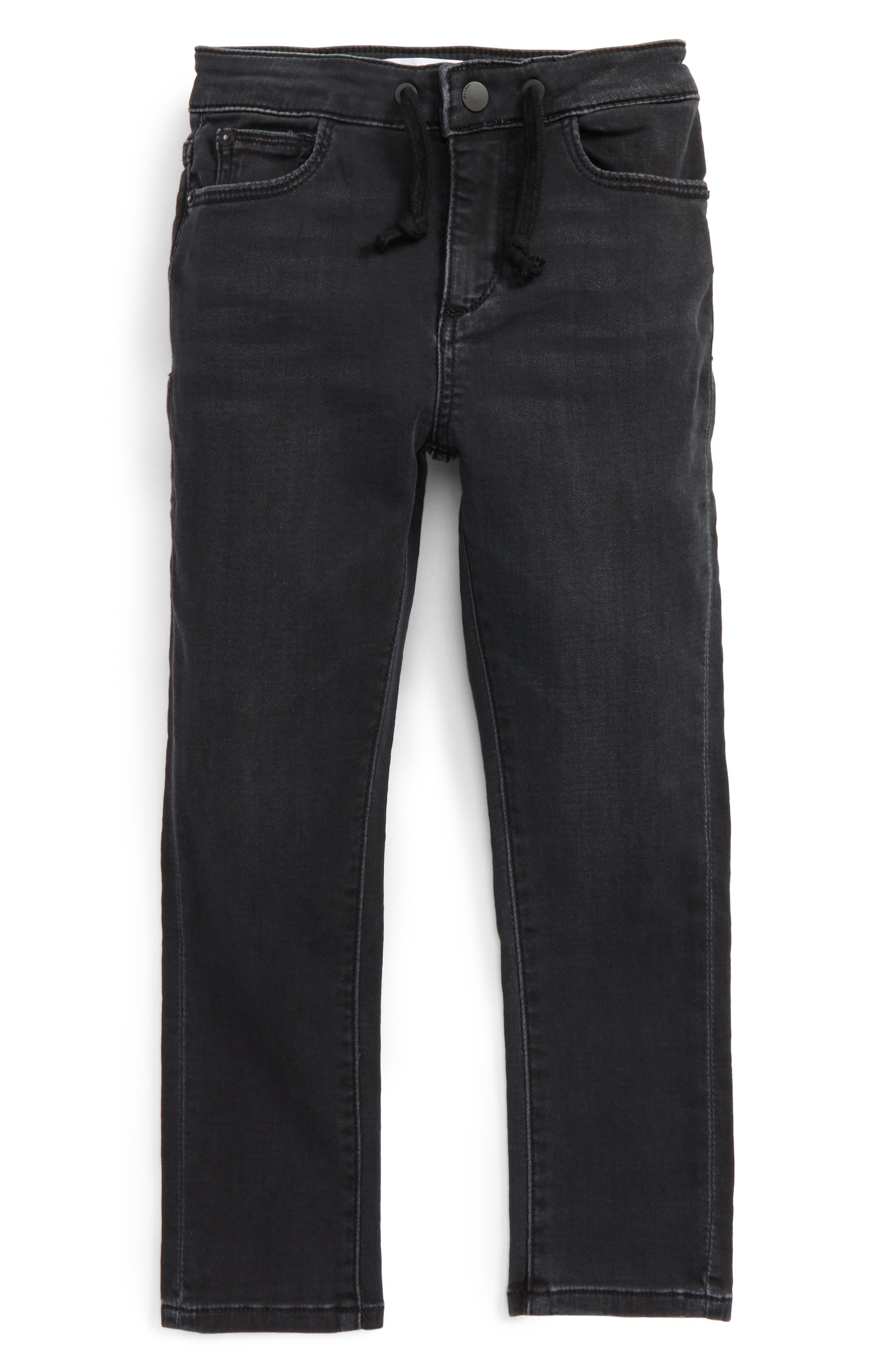 DL1961 William Active X Stonewash Knit Denim Jogger Pants (Toddler Boys & Little Boys)