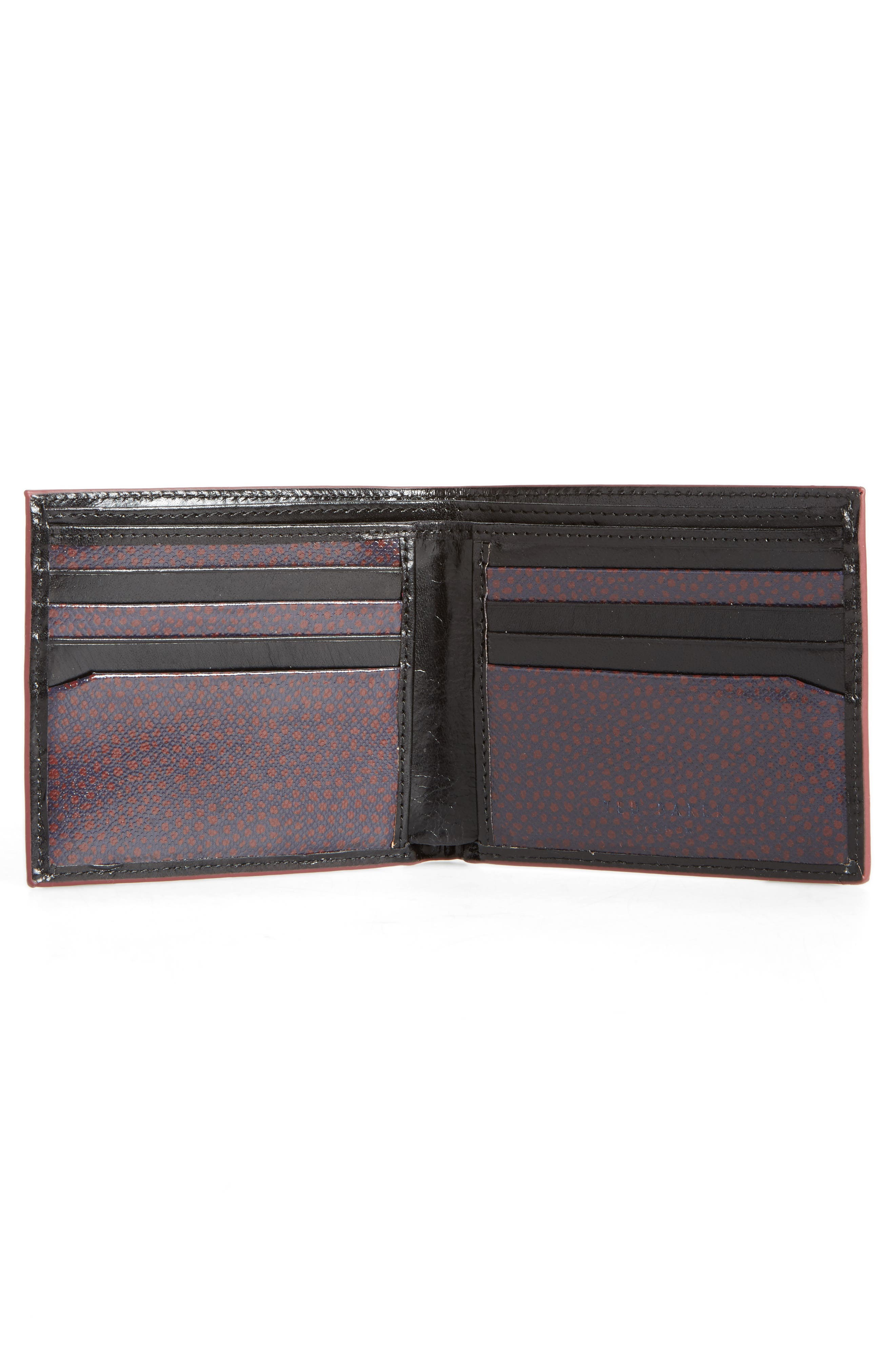 Loganz Leather Wallet,                             Alternate thumbnail 2, color,                             Black