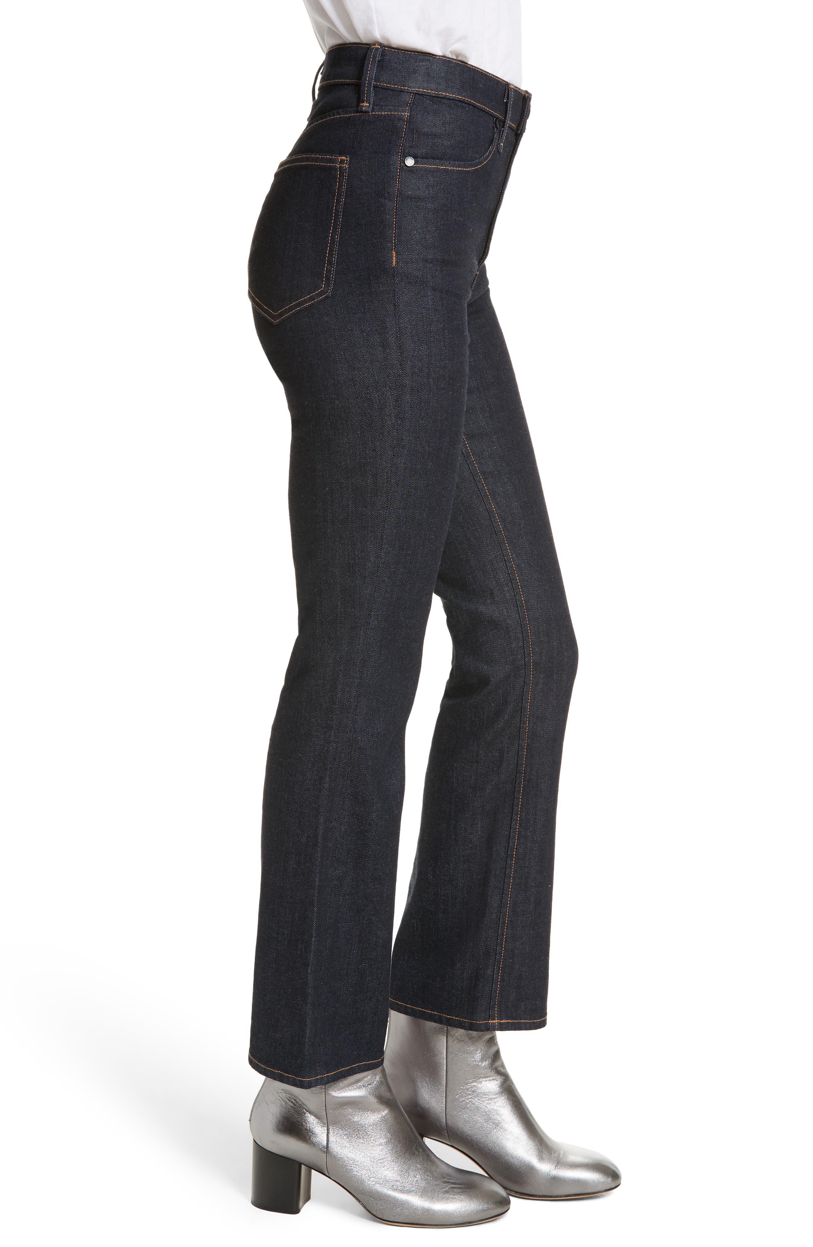 Dylan High Waist Kick Flare Jeans,                             Alternate thumbnail 3, color,                             Indigo