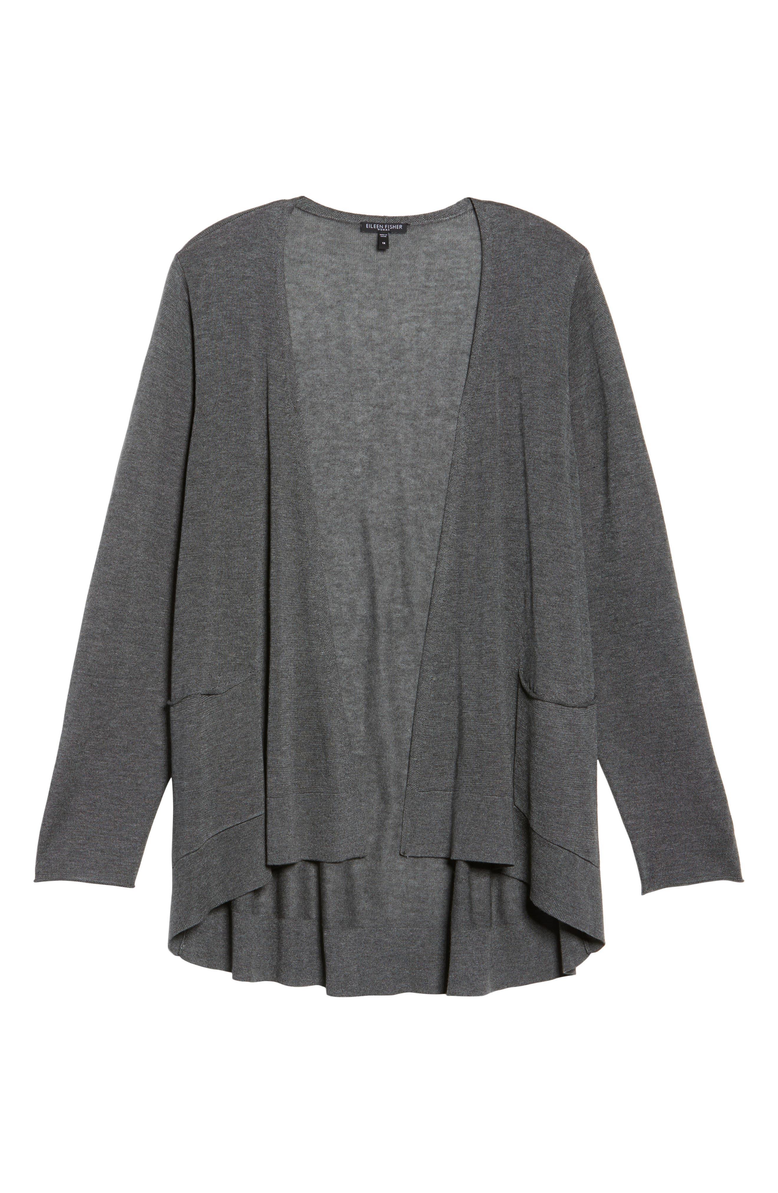 Alternate Image 6  - Eileen Fisher Slouchy Tencel® Blend Cardigan (Plus Size)