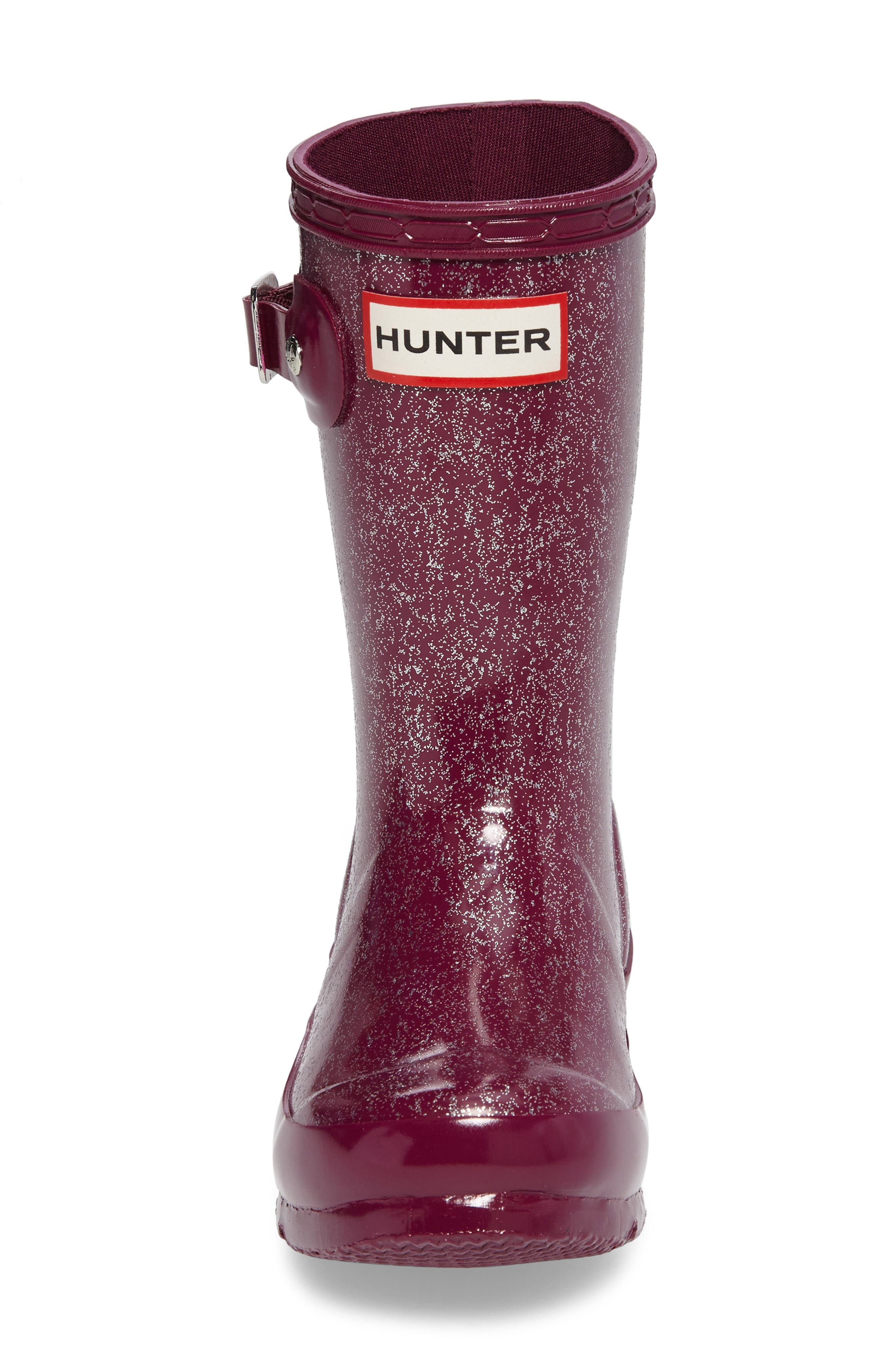 'Original Glitter' Rain Boot,                             Alternate thumbnail 4, color,                             Bright Violet