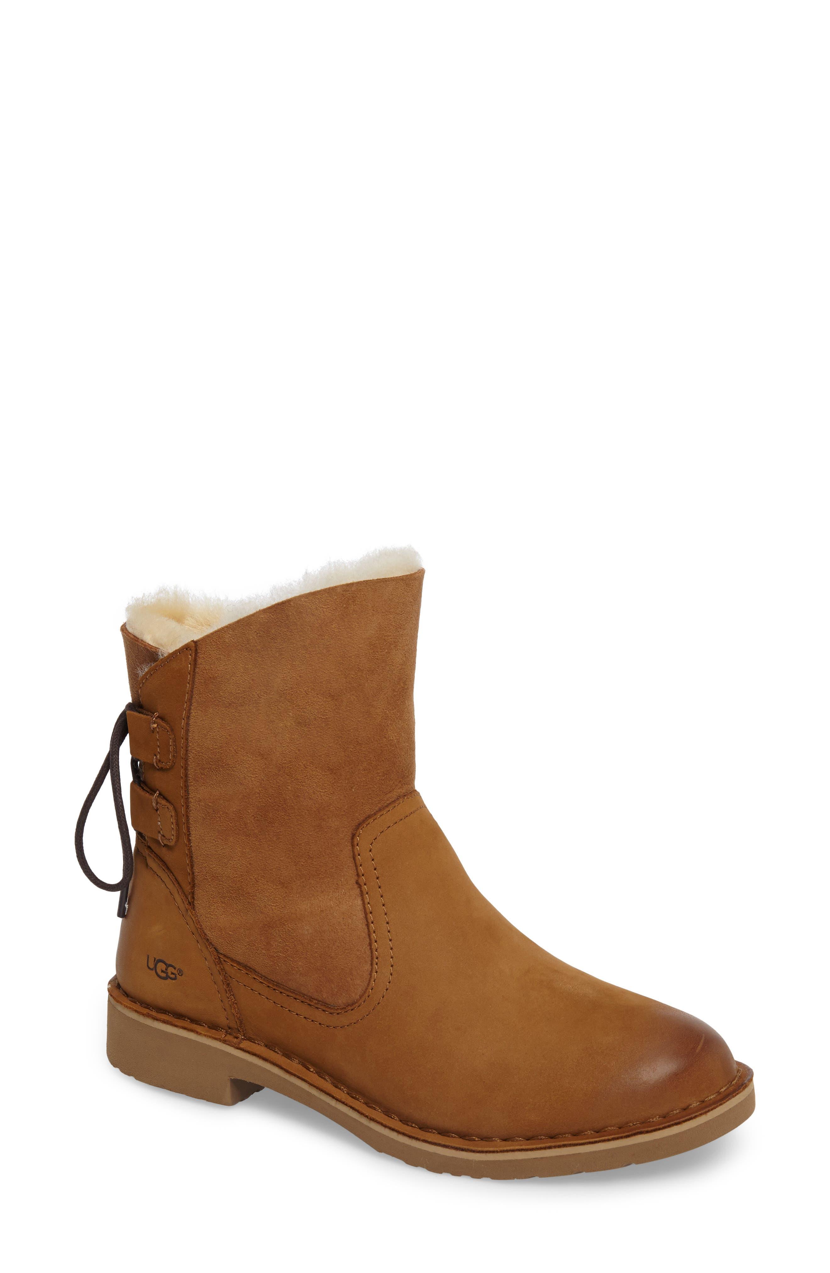 Main Image - UGG® Naiyah Lace-Back Genuine Shearling Boot (Women)