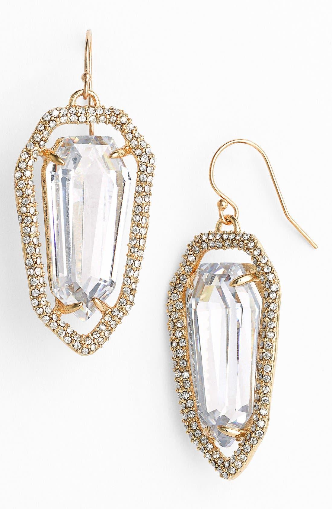 Alternate Image 1 Selected - Alexis Bittar 'Miss Havisham' Crystal Encrusted Shield Earrings