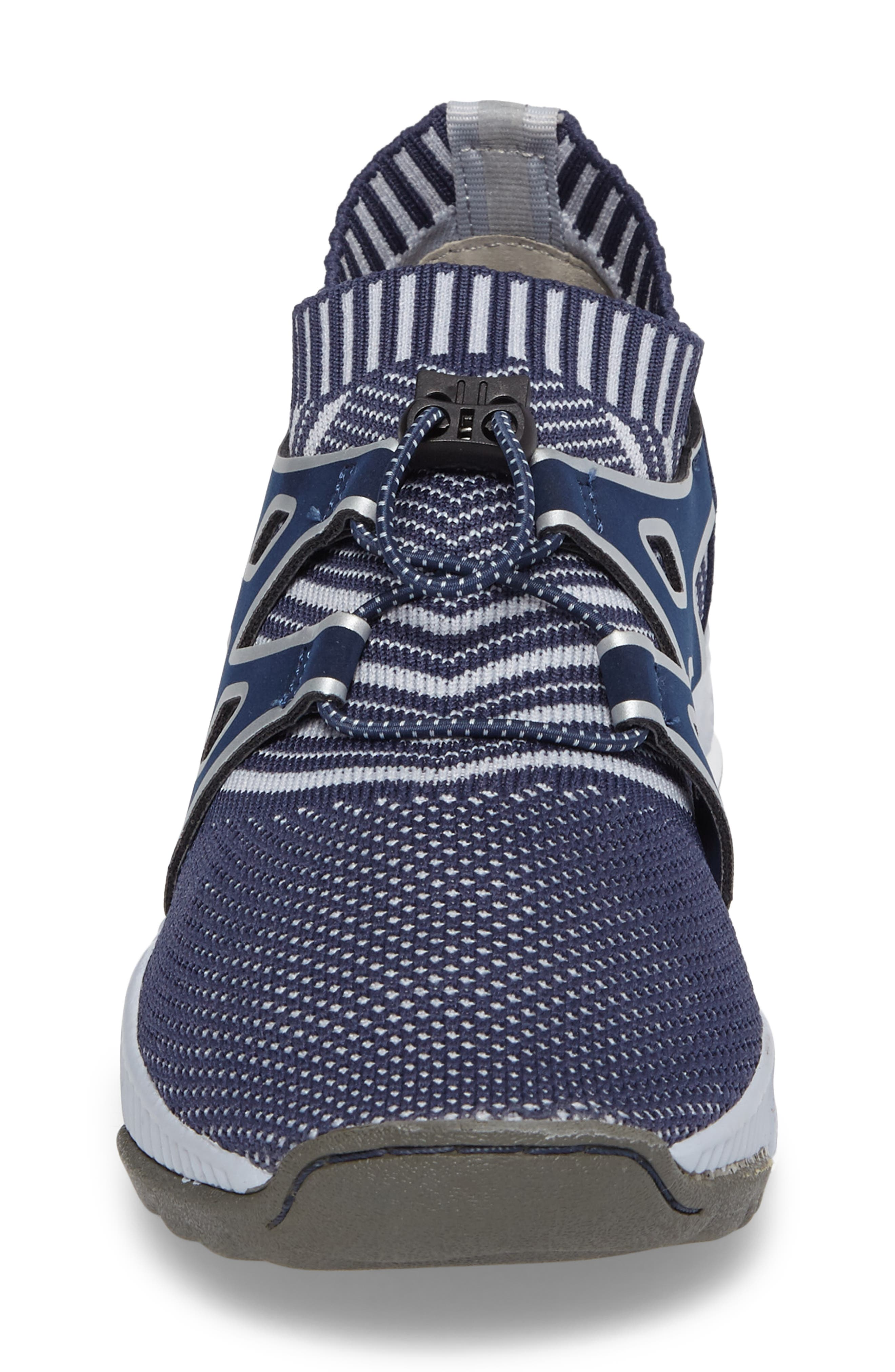 Jackie Sneaker,                             Alternate thumbnail 4, color,                             Navy Fabric