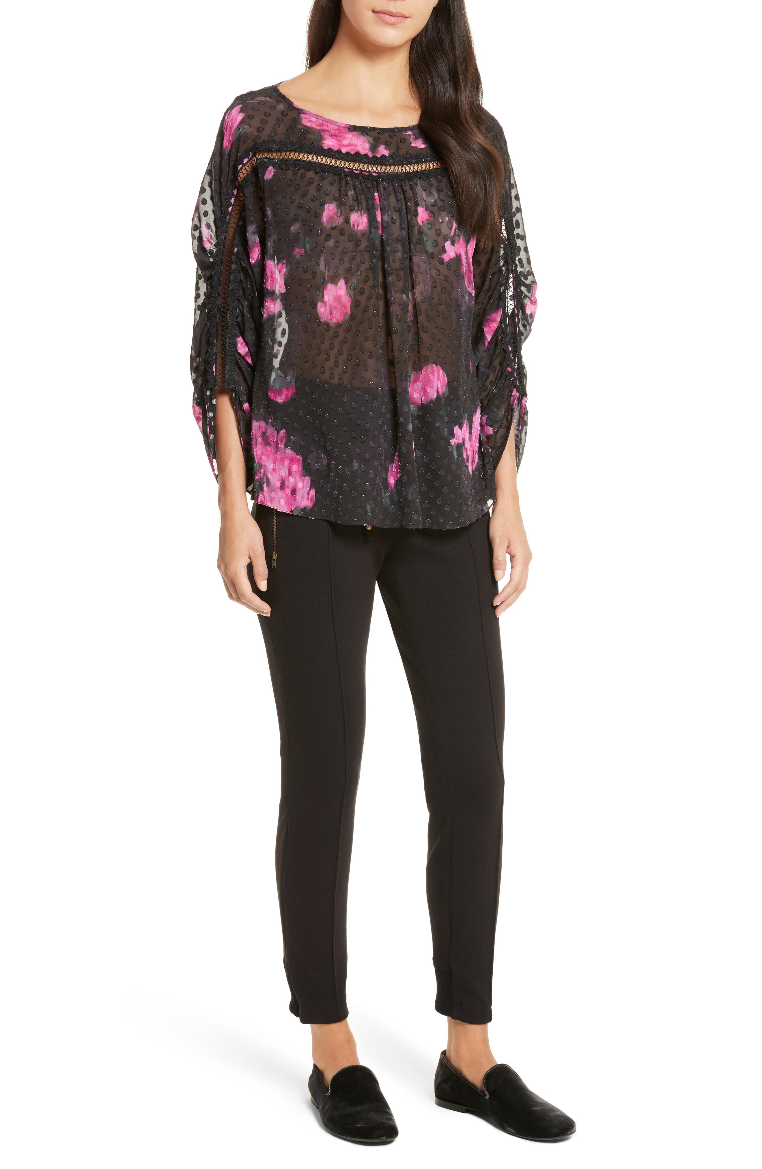 Alternate Image 7  - Tracy Reese Floral Silk Blouse