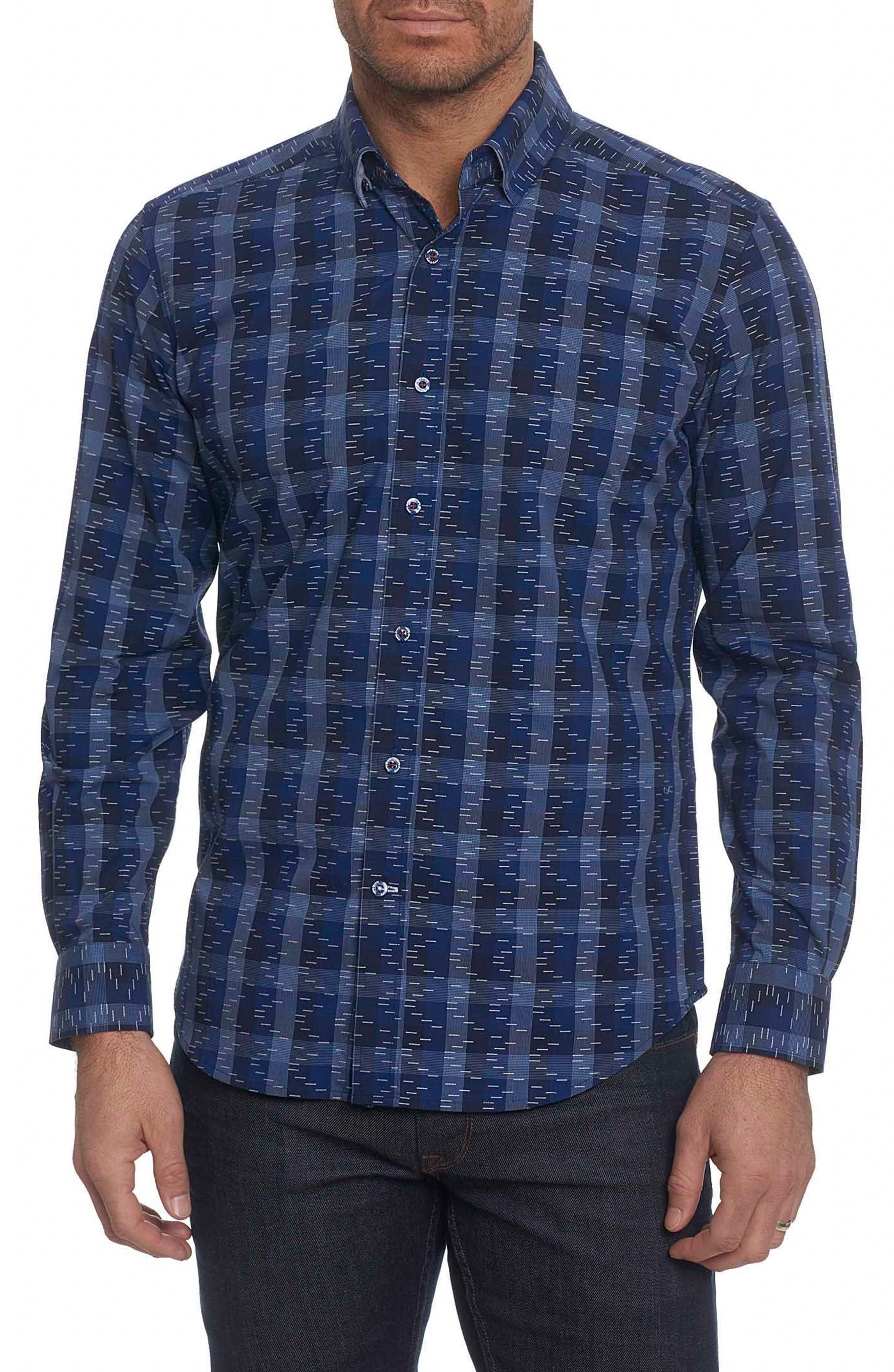 Levy Regular Fit Print Sport Shirt,                         Main,                         color, Navy